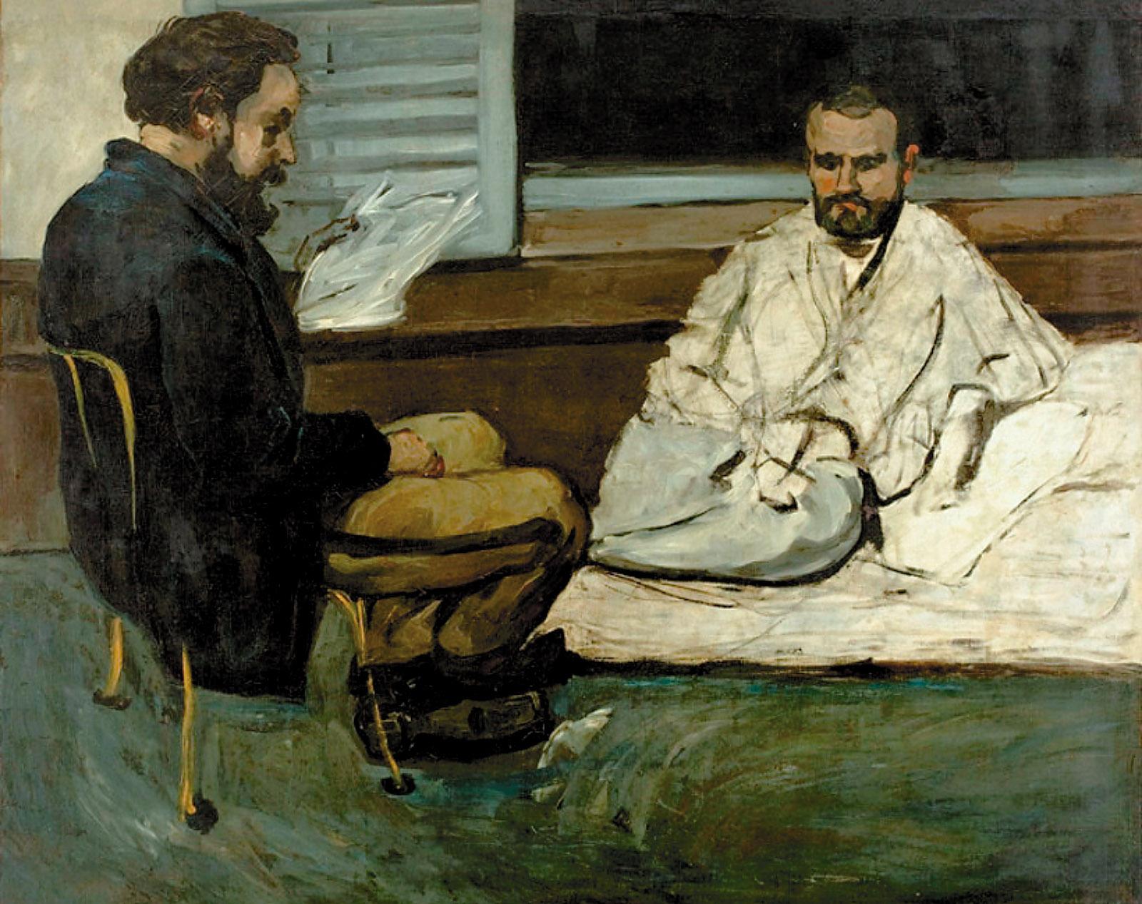 Paul Cézanne: Paul Alexis Reading to Émile Zola, 1869–1870