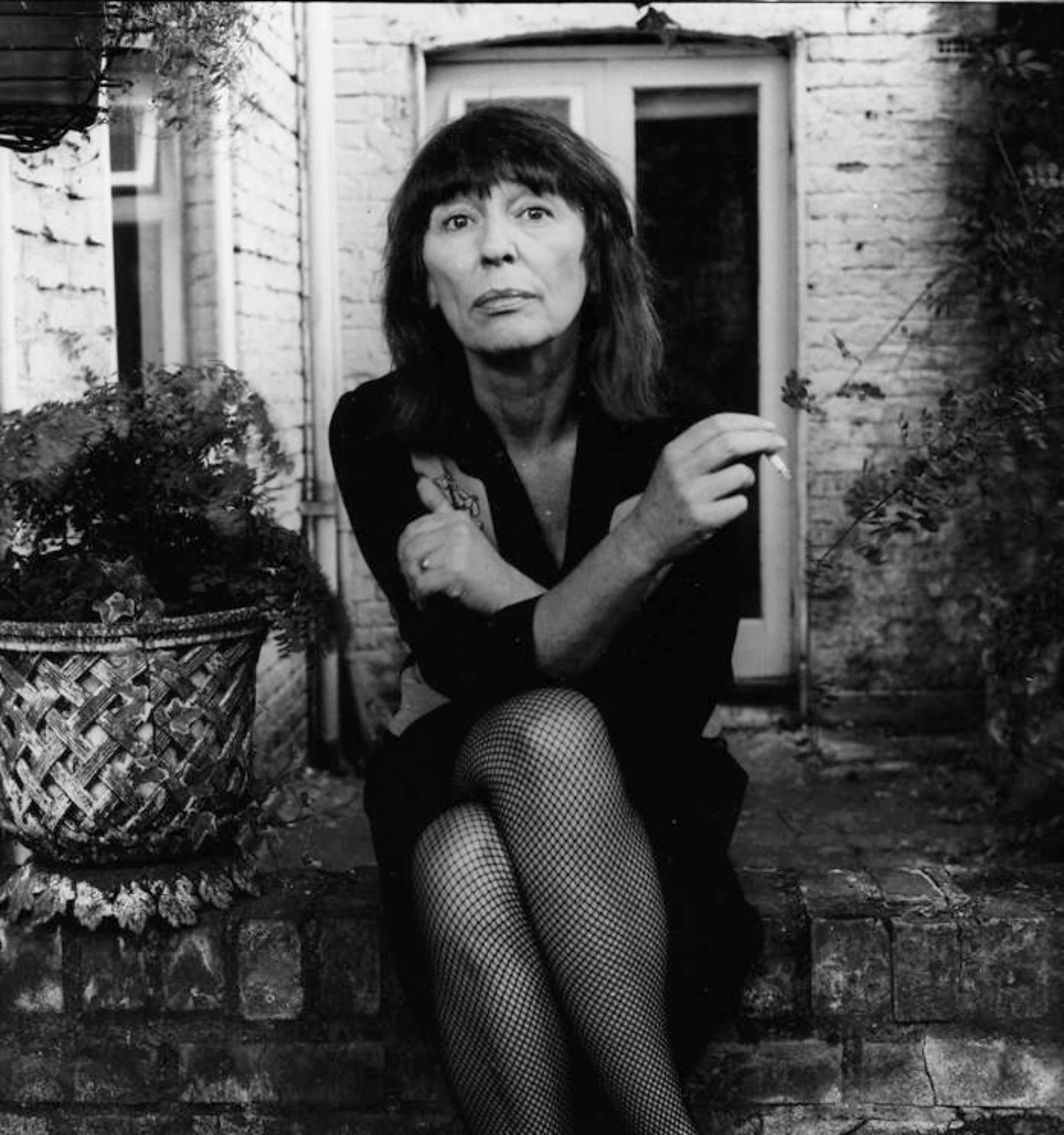 Beryl Bainbridge at her house in Camden Town, London, 1989