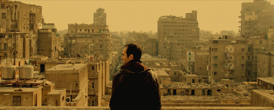 Khalid Abdalla as the filmmaker Khalid in Tamer El Said's In the Last Days of the City, 2016