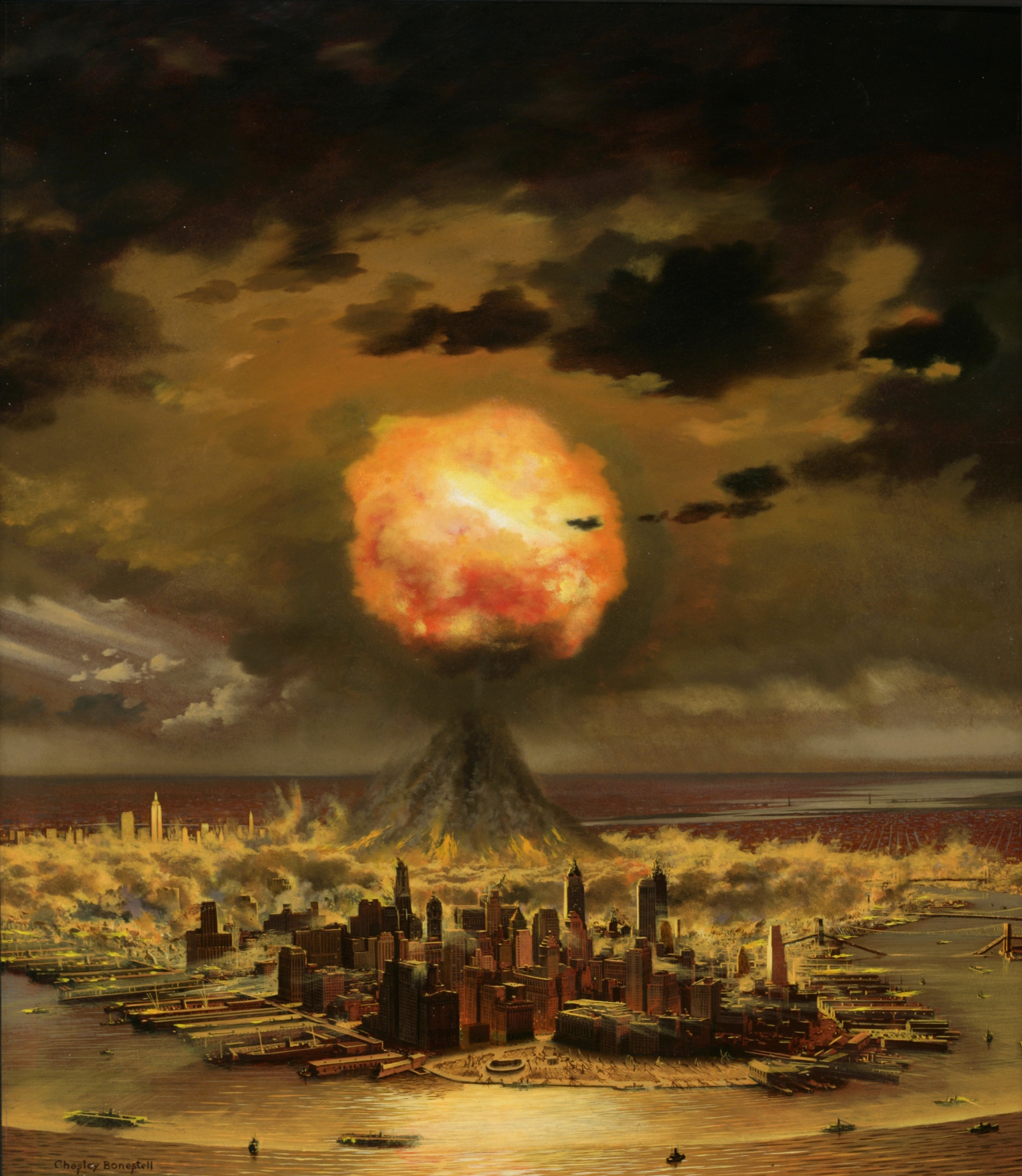 An illustration by Chesley Bonestell for