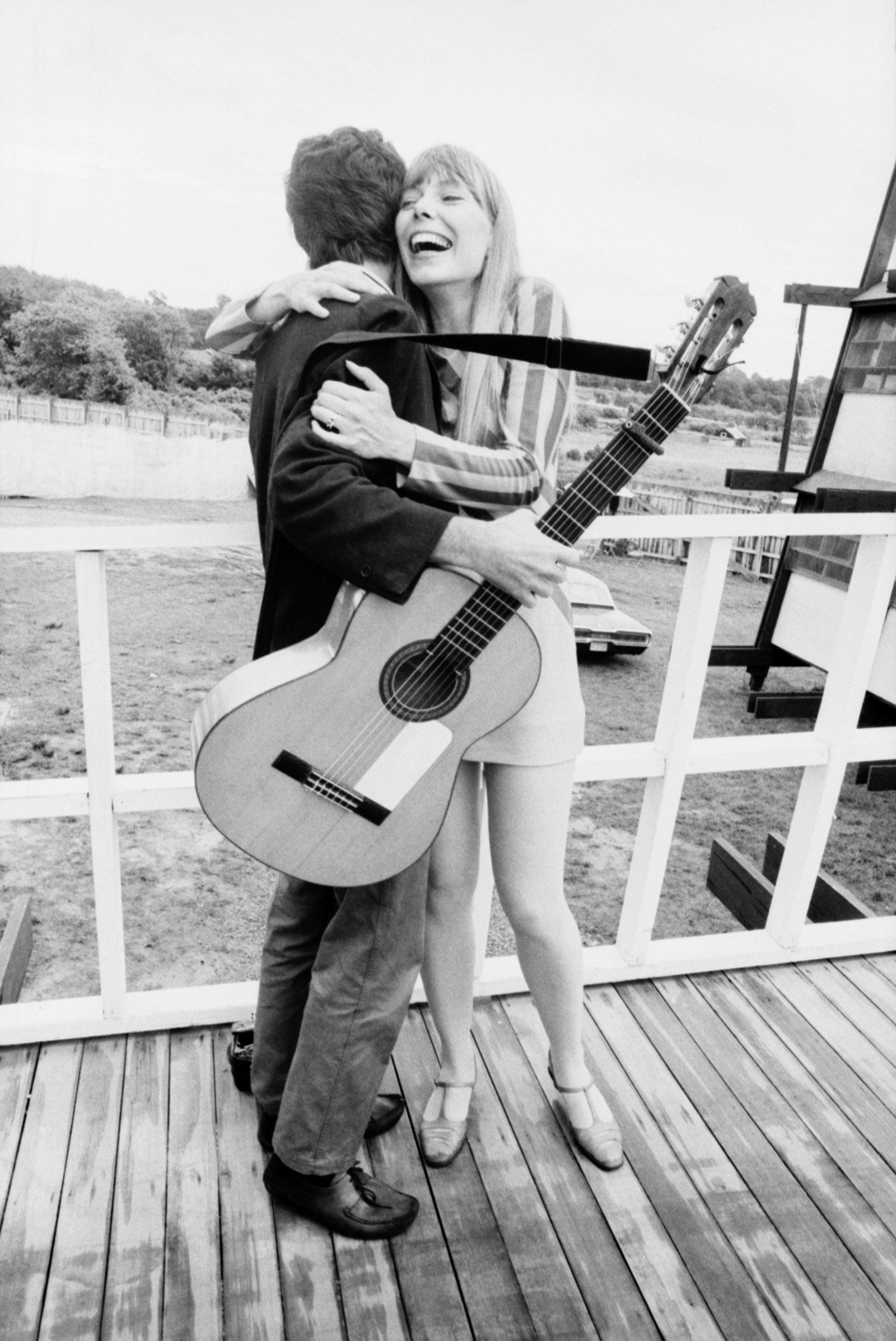 Joni Mitchell and Leonard Cohen at the Newport Folk Festival, July 1967