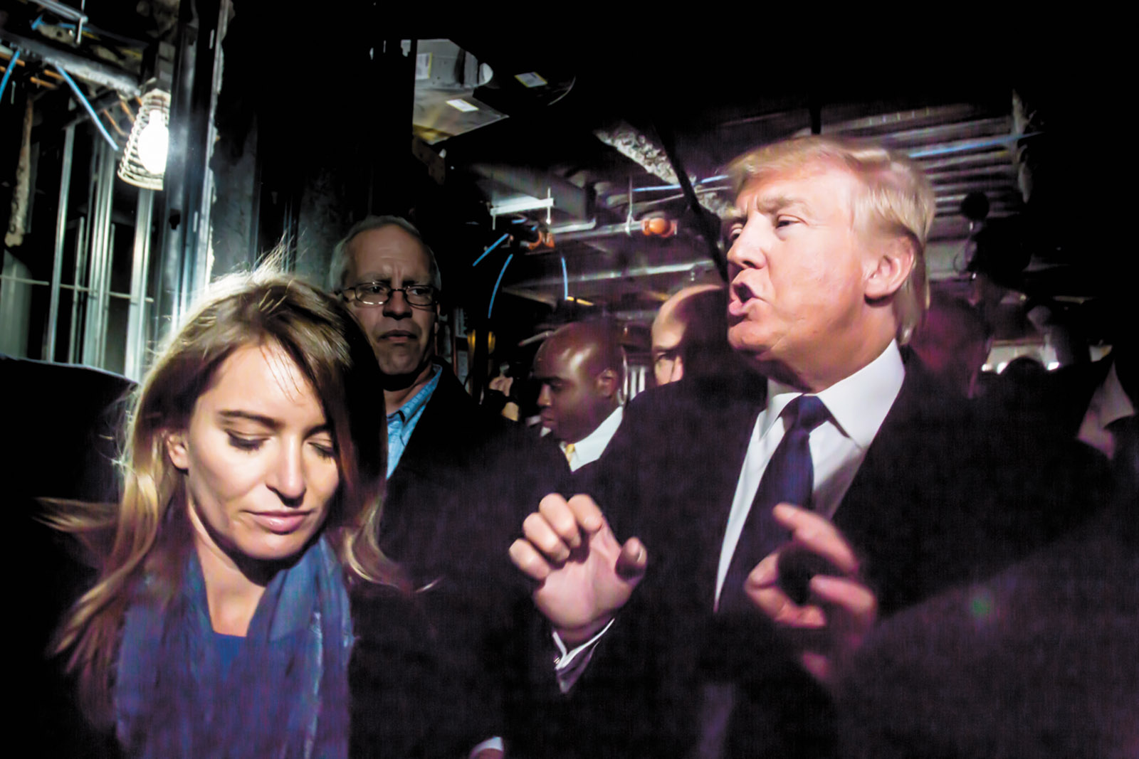 NBC News correspondent Katy Tur on the campaign trail with Donald Trump, Washington, D.C., March 2016