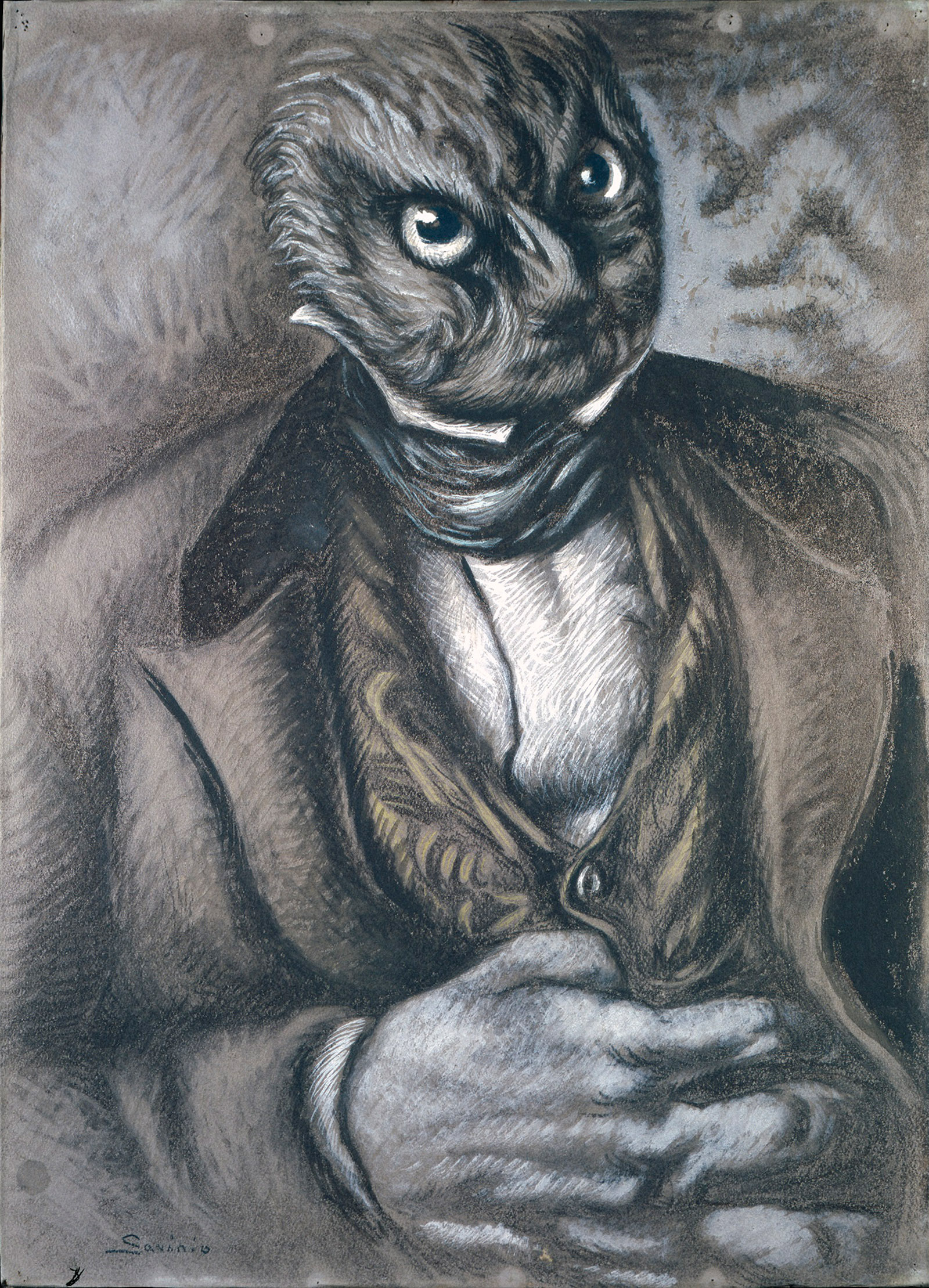 Alberto Savinio: Self-Portrait as an Owl, 1936