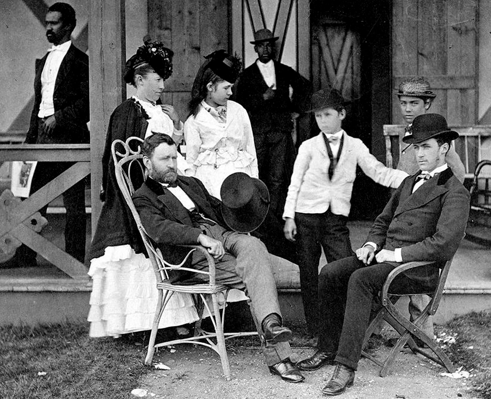 Ulysses S. Grant and his family, Long Branch, New Jersey, 1870