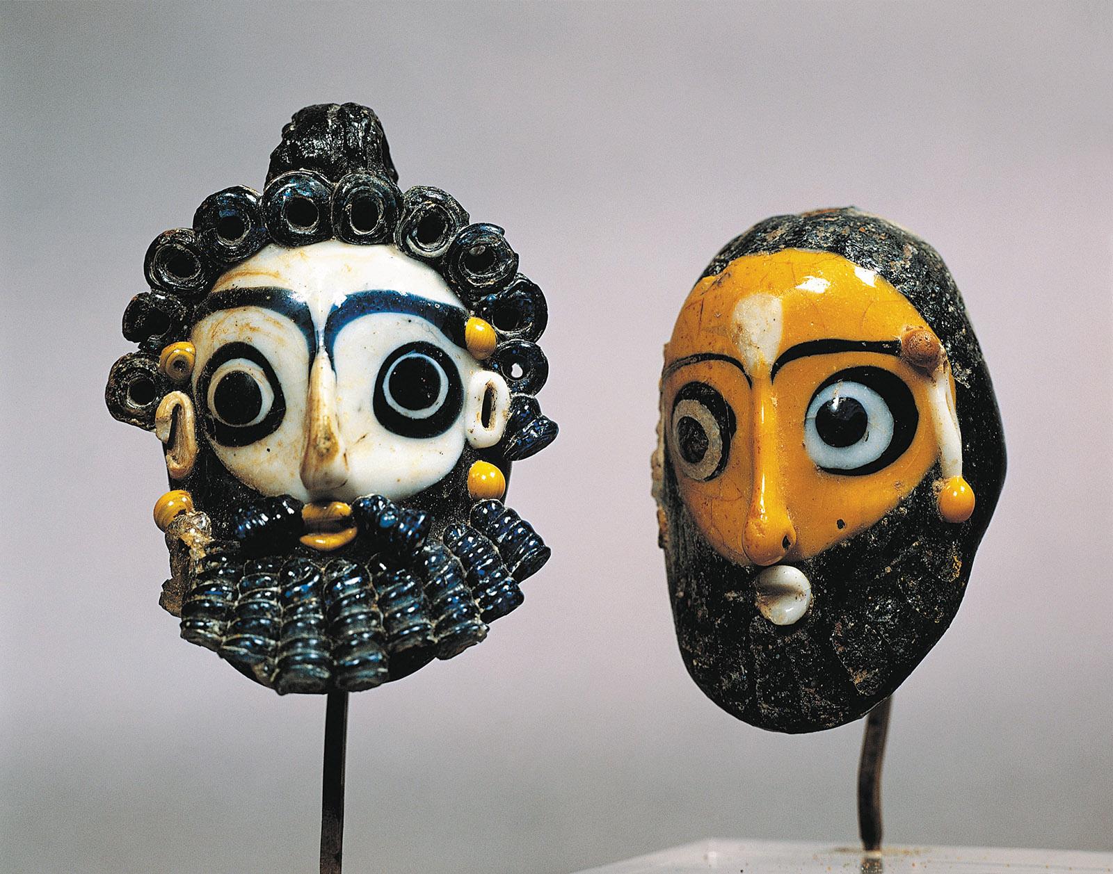 Phoenician glass masks from Carthage (modern-day Tunisia), third century BC
