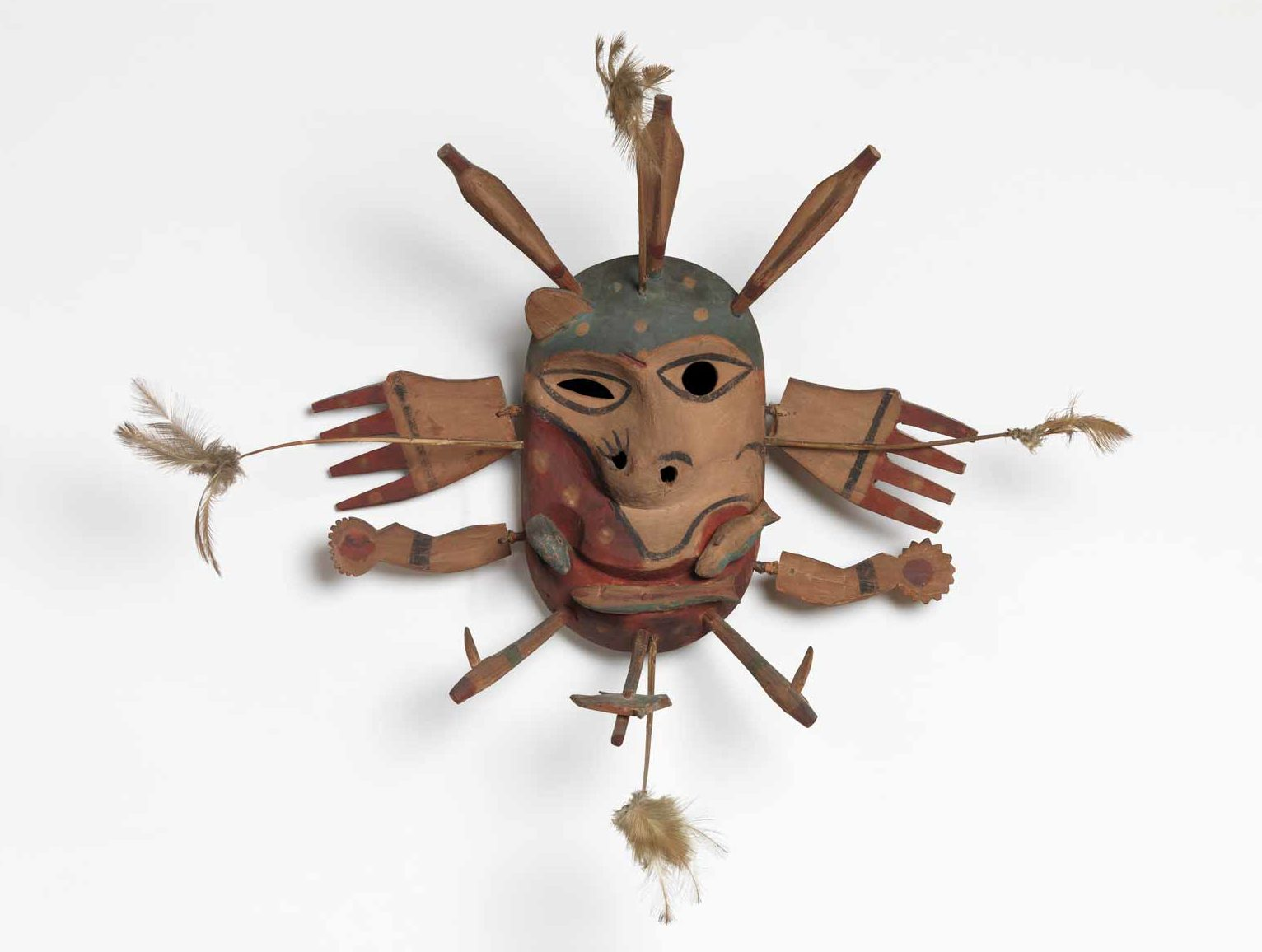 Yup'ik mask that once belonged to Andre Breton, from Goodnews Bay, Alaska, late nineteenth to early twentieth century