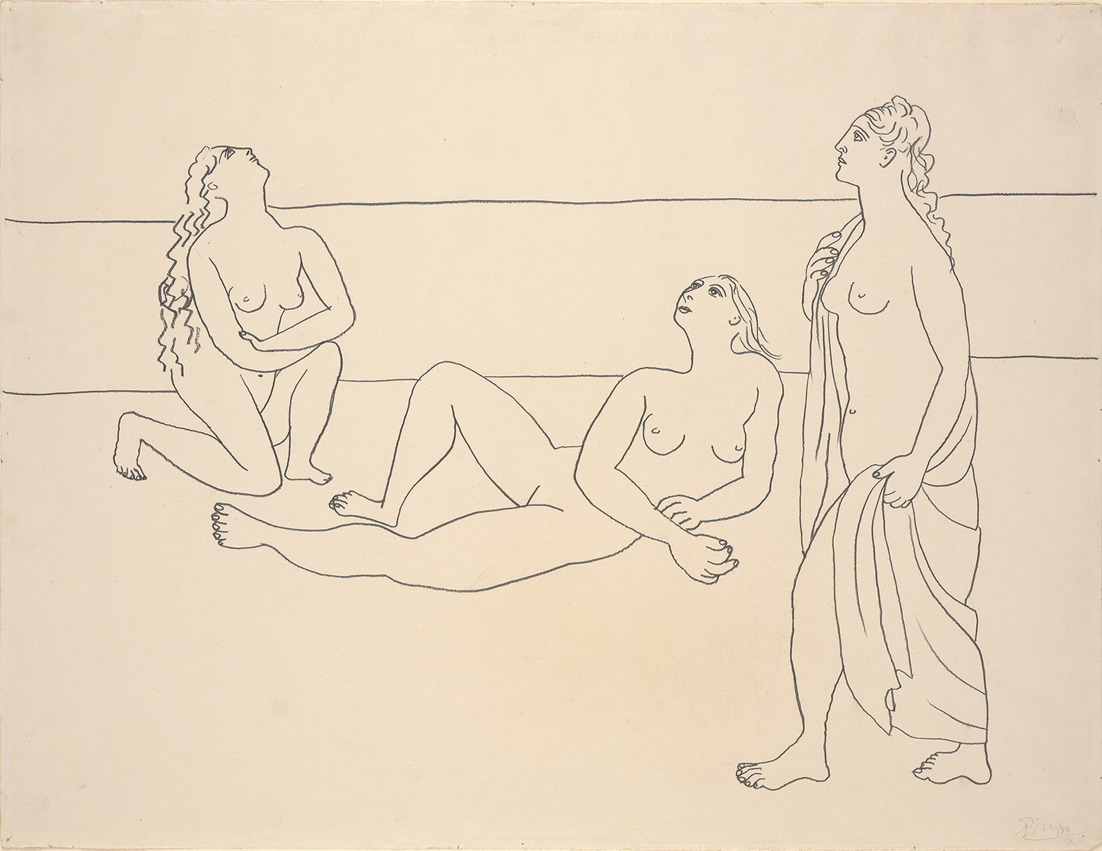 Pablo Picasso: Three Bathers by the Shore, 1920