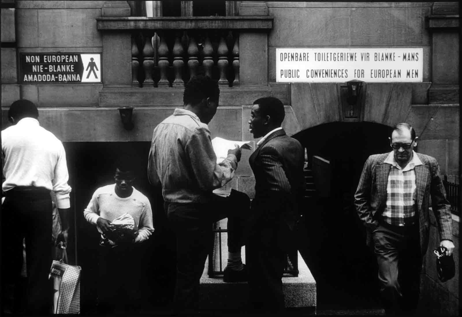 Segregated public lavatories at City Hall, Johannesburg, South Africa, 1984