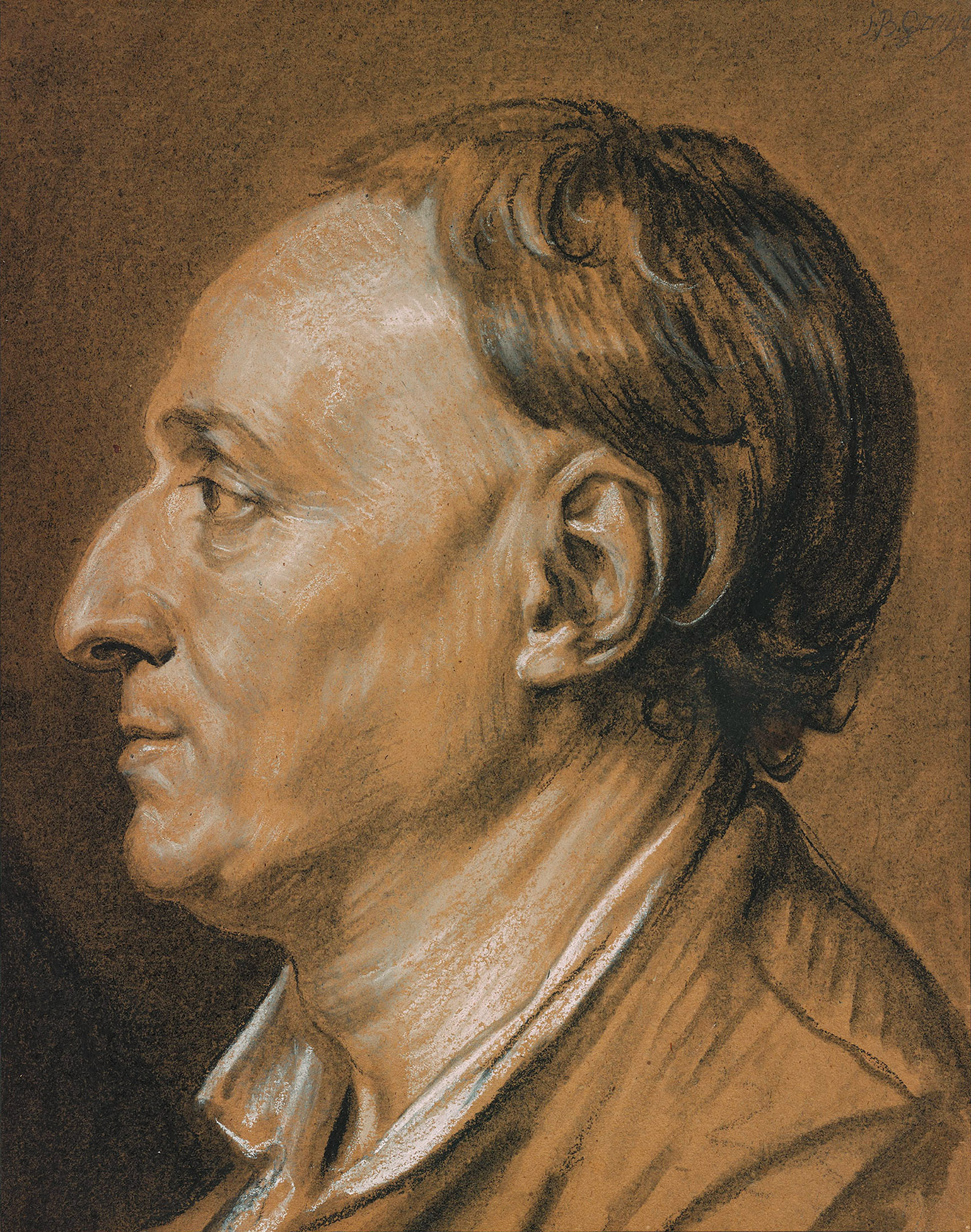 Jean-Baptiste Greuze: Portrait of Denis Diderot, eighteenth century