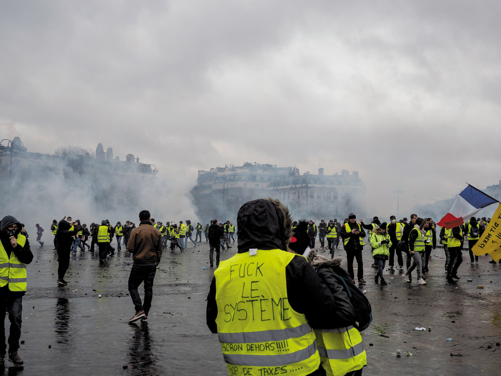 A yellow vest demonstration, Paris, December 2018