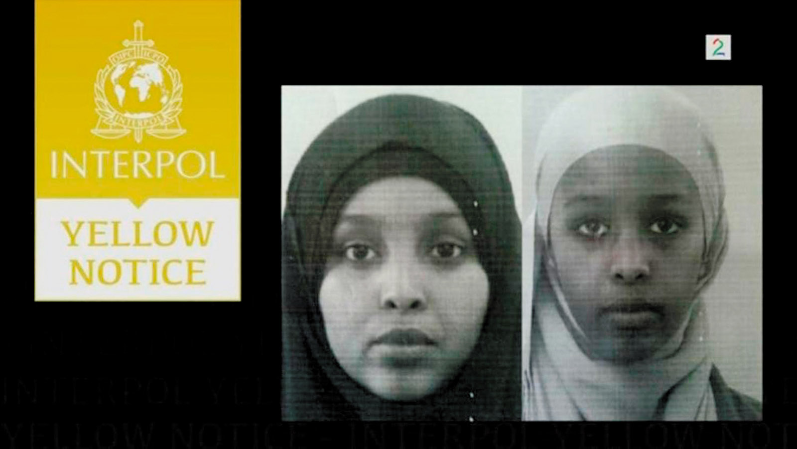 The Interpol notice of the Juma sisters, October 2013