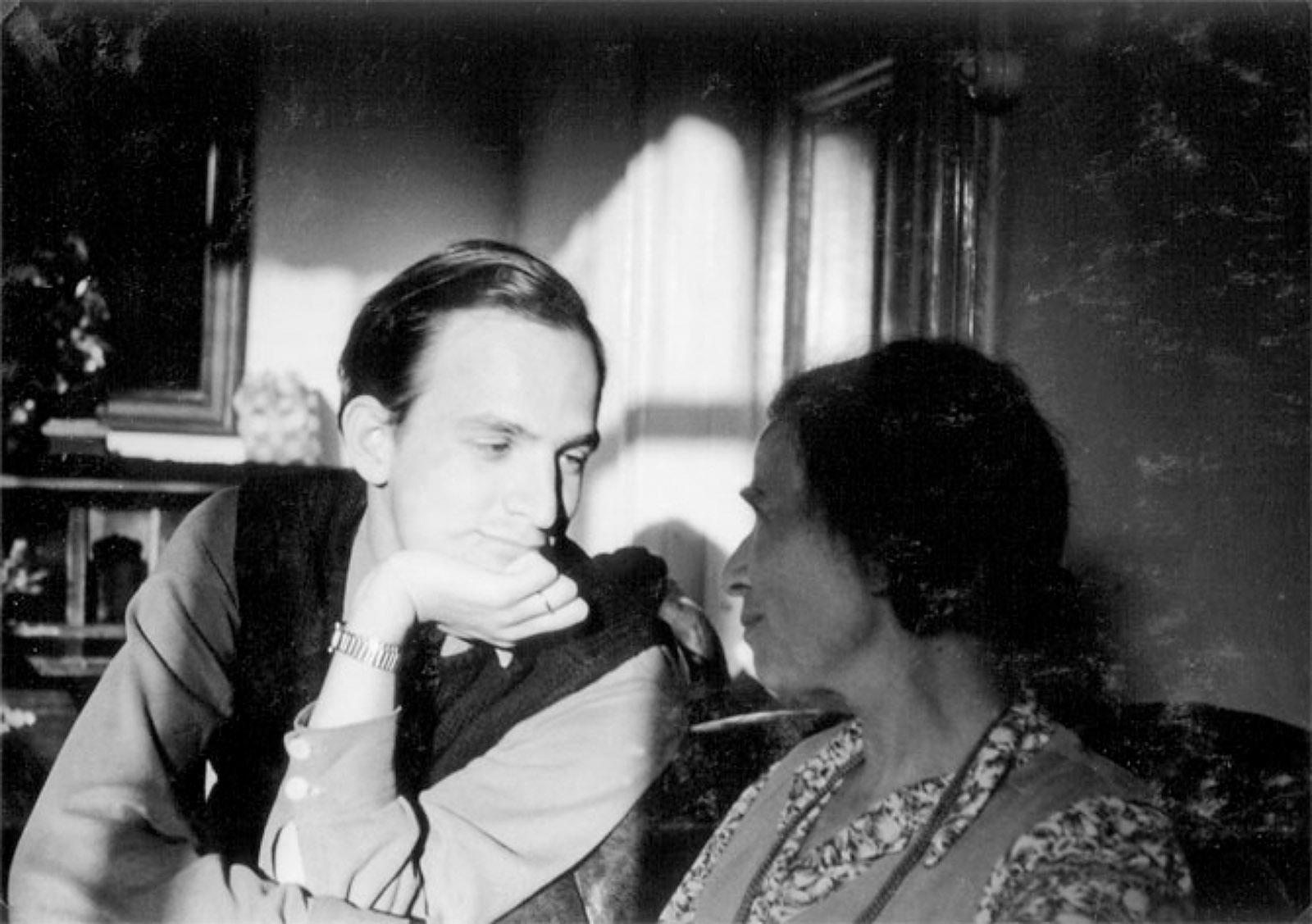 Ingmar Bergman with his mother, Karin Bergman, 1943