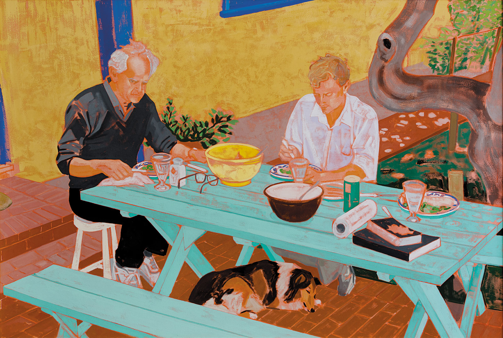 Patricia Patterson: The Conversation (Manny and Steve at the Table), 1990