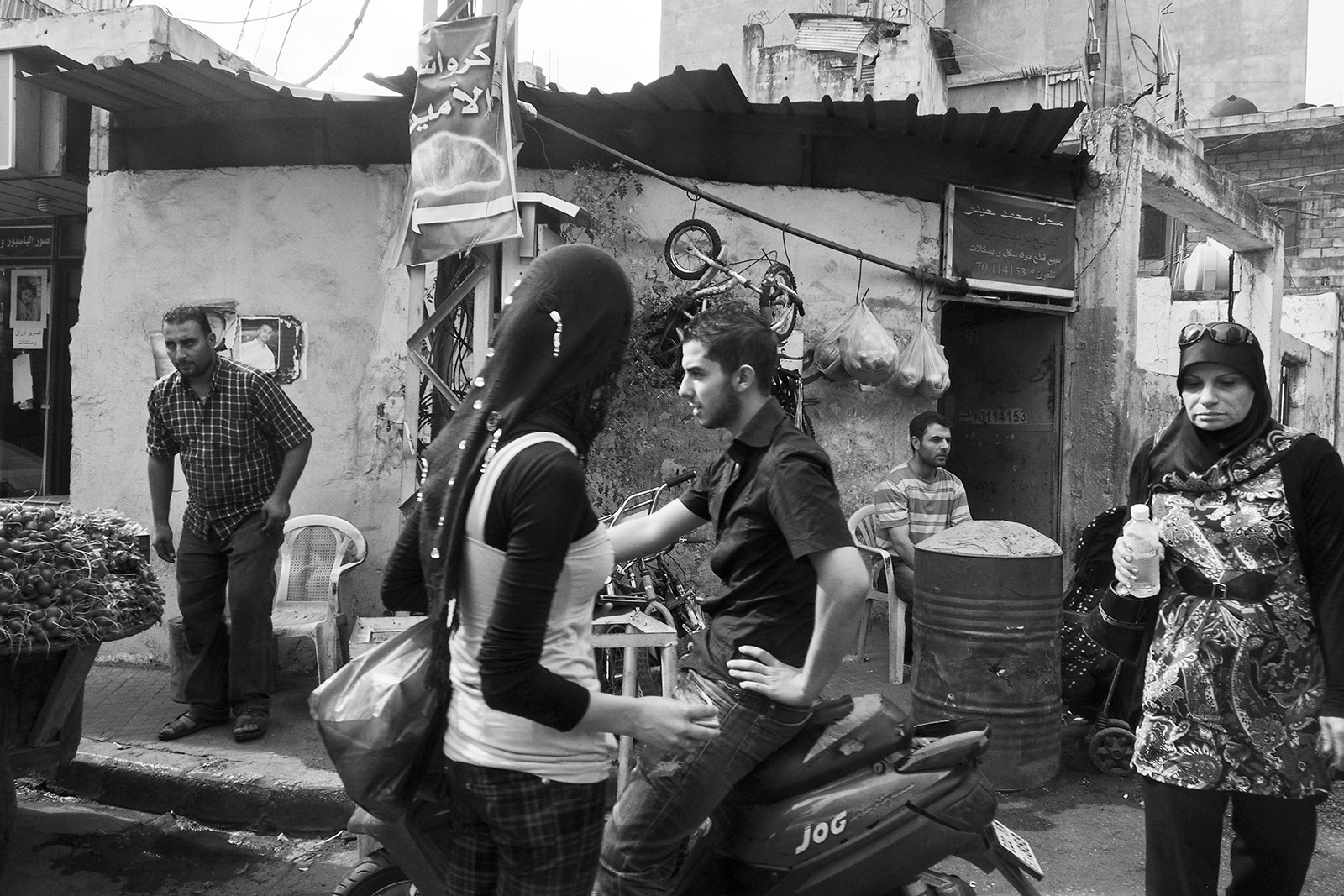 Street scene in the suburb of Dahieh, a Hezbollah stronghold on the outskirts of Beirut, Lebanon, 2012