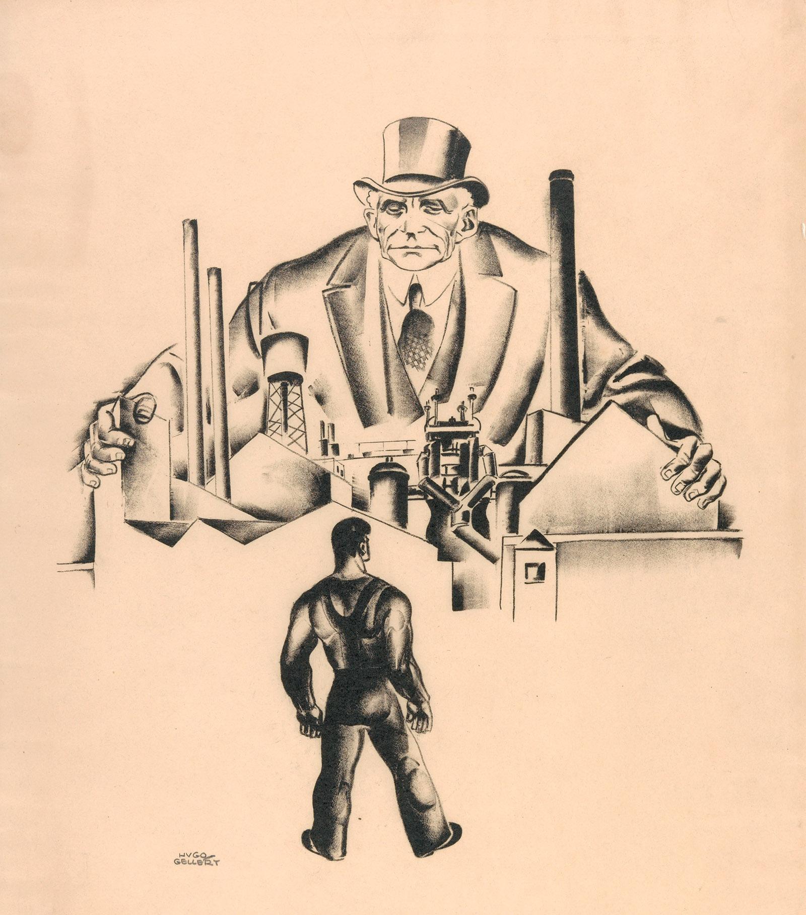 Primary Accumulation 3 (Henry Ford) by Hugo Gellert, 1933