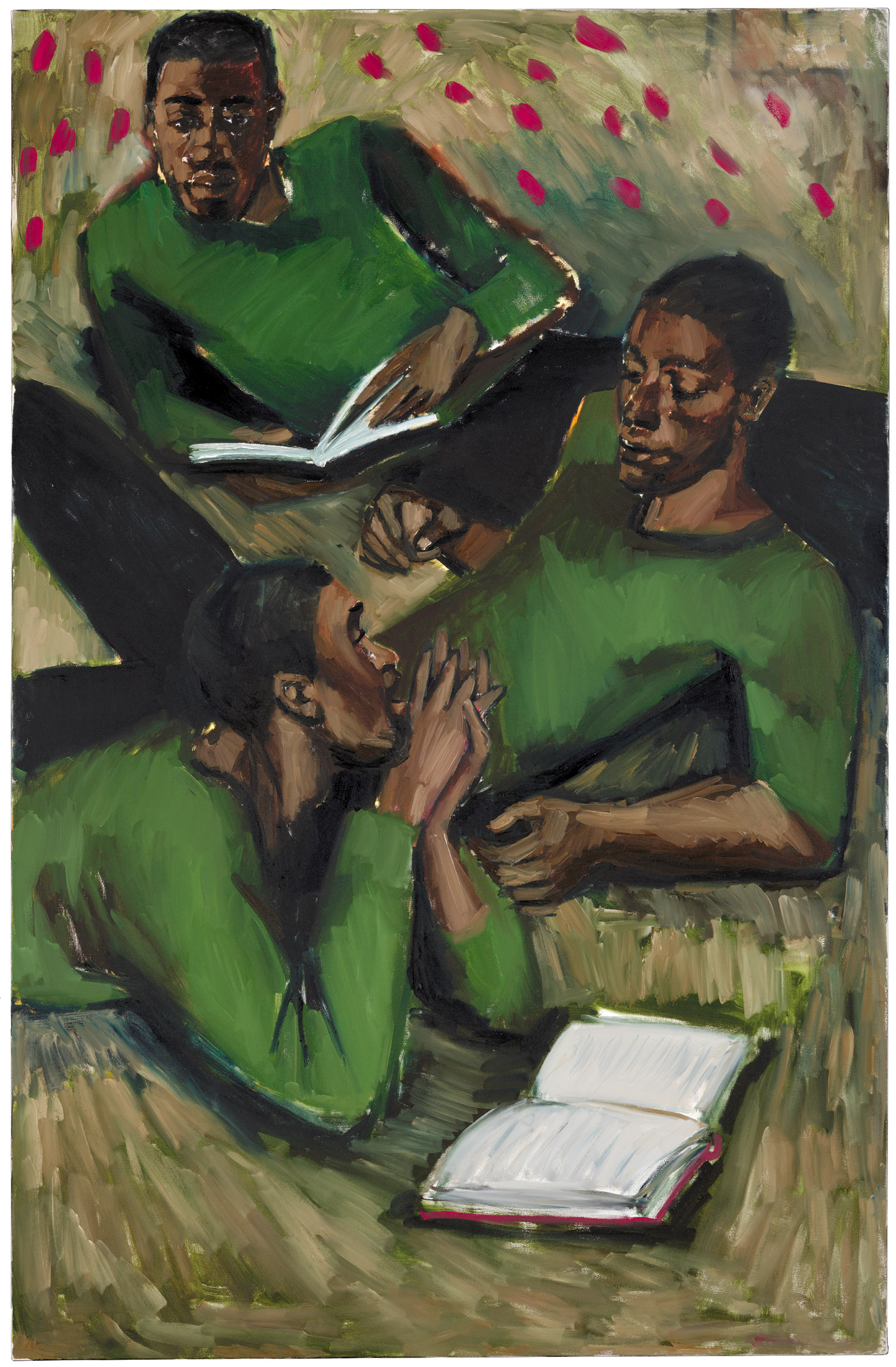 Lynette Yiadom-Boakye: To Reason with Heathen at Harvest, 2017. An exhibition of Yiadom-Boakye's work, curated by Hilton Als, is on view at the Yale Center for British Art, New Haven, September 12–December 15, 2019.
