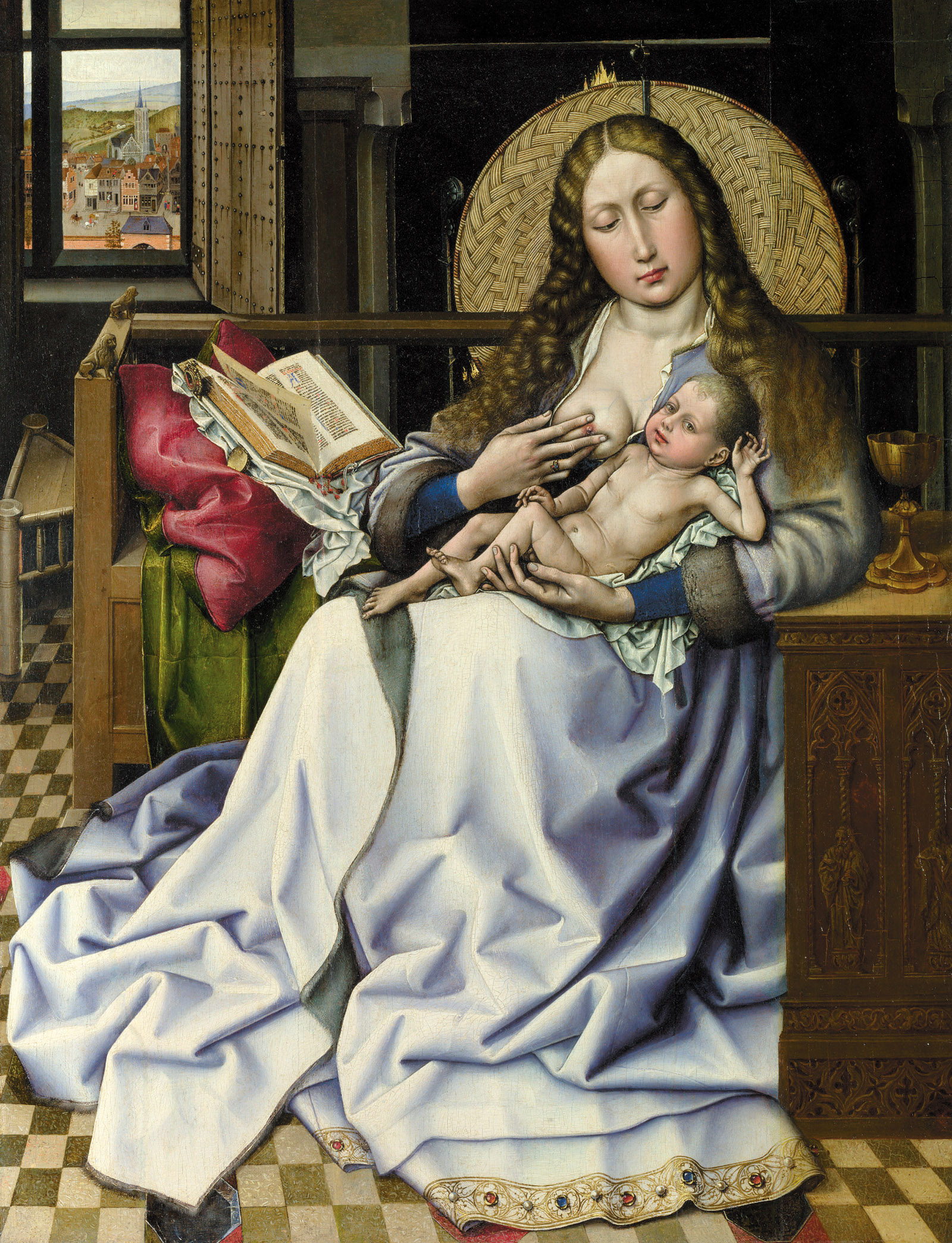 Robert Campin's painting, The Virgin and Child Before a Firescreen, circa 1440
