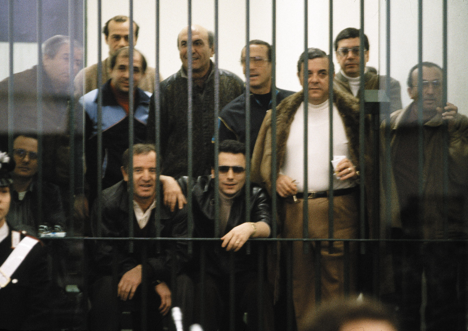 Members of the Cosa Nostra during the largest-ever anti-mafia trial, Palermo, 1986