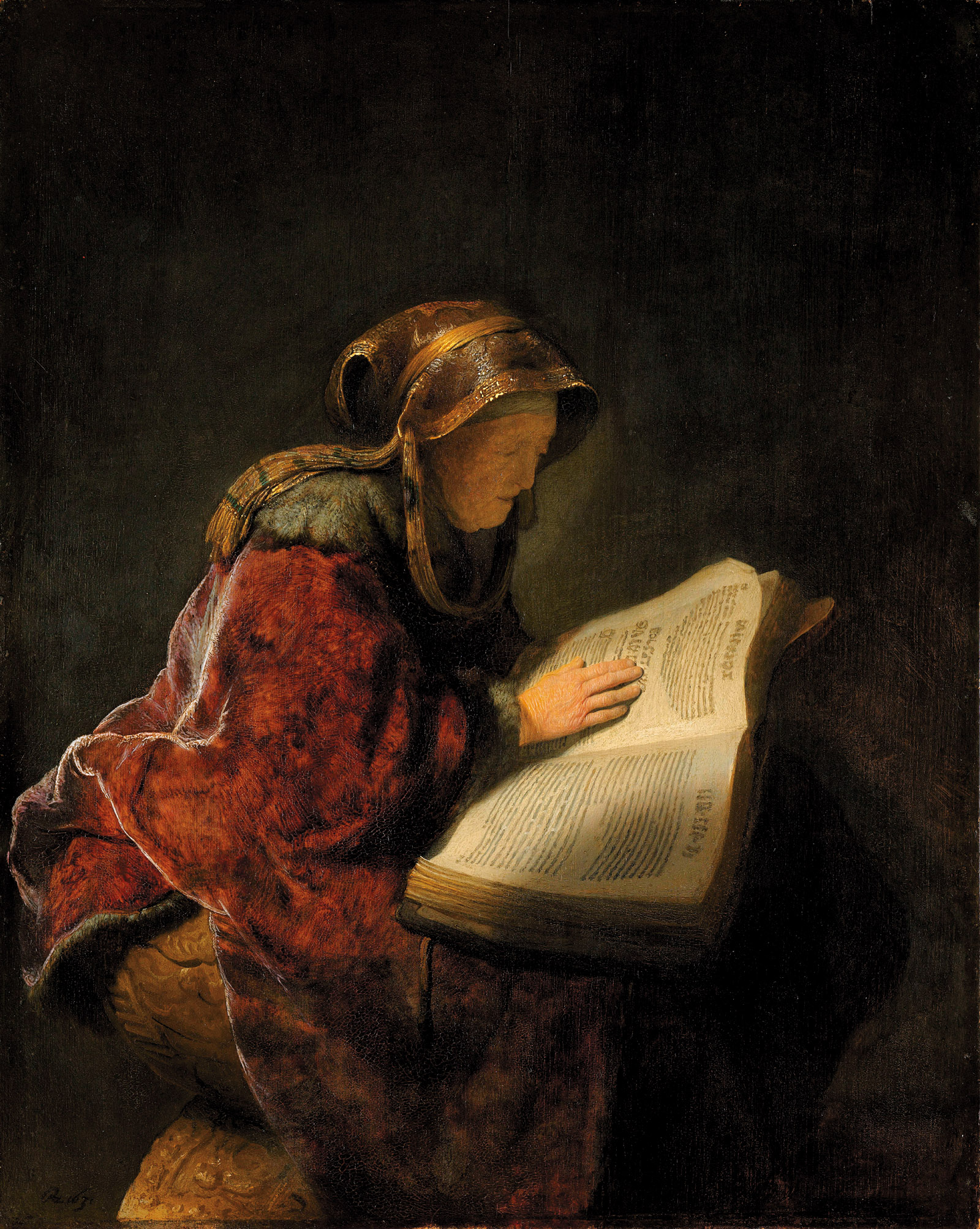Rembrandt van Rijn: Old Woman Reading, 1631