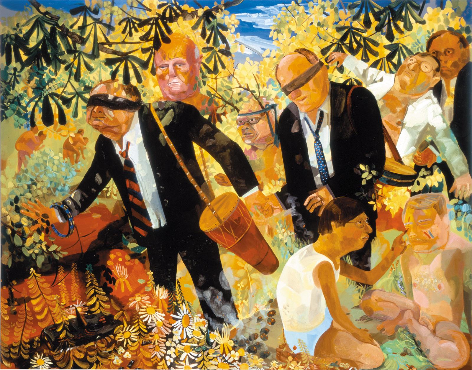 Men's Retreat, 2005; painting by Dana Schutz