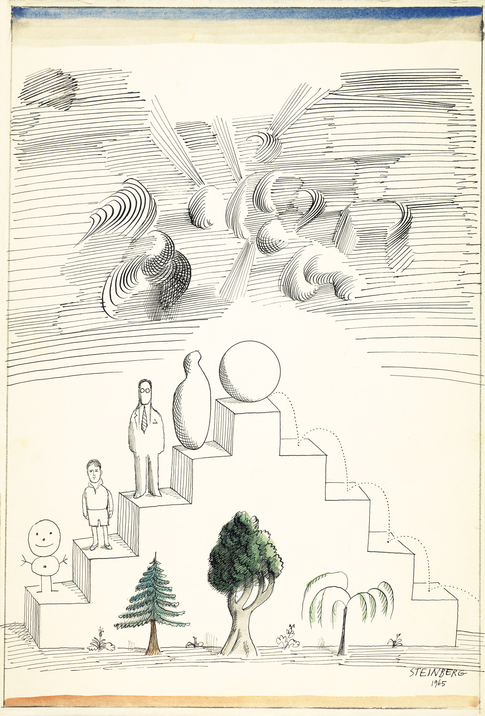 Biography, 1965; drawing by Saul Steinberg