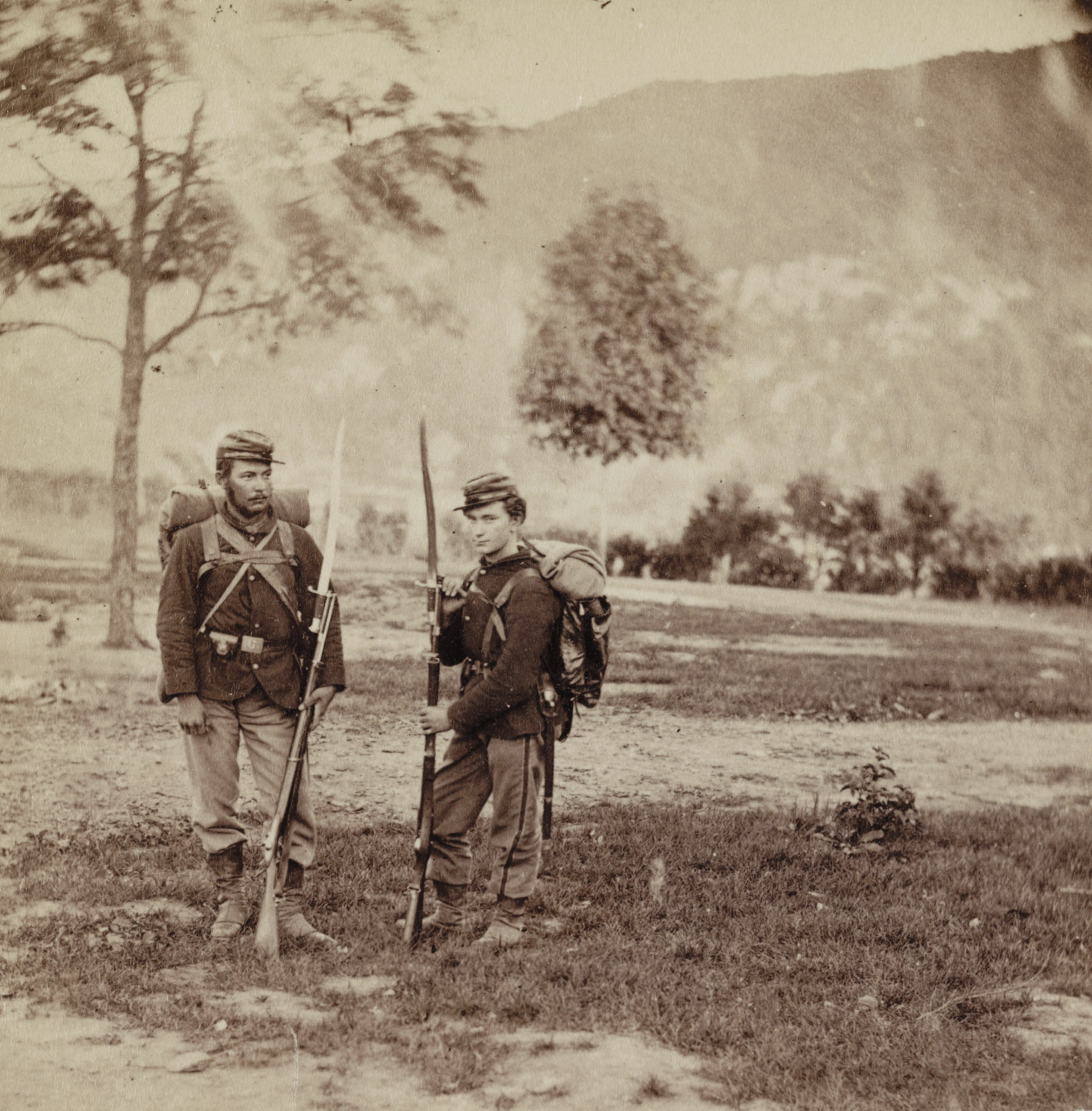 Soldiers from the 22nd New York State Militia near Harpers Ferry, Virginia, 1862