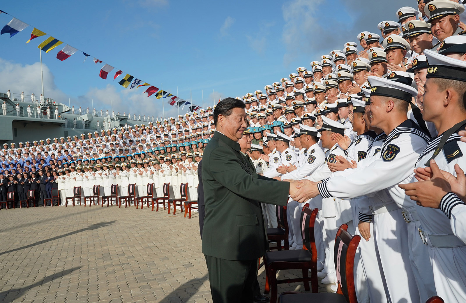 Chinese President Xi Jinping meeting with sailors
