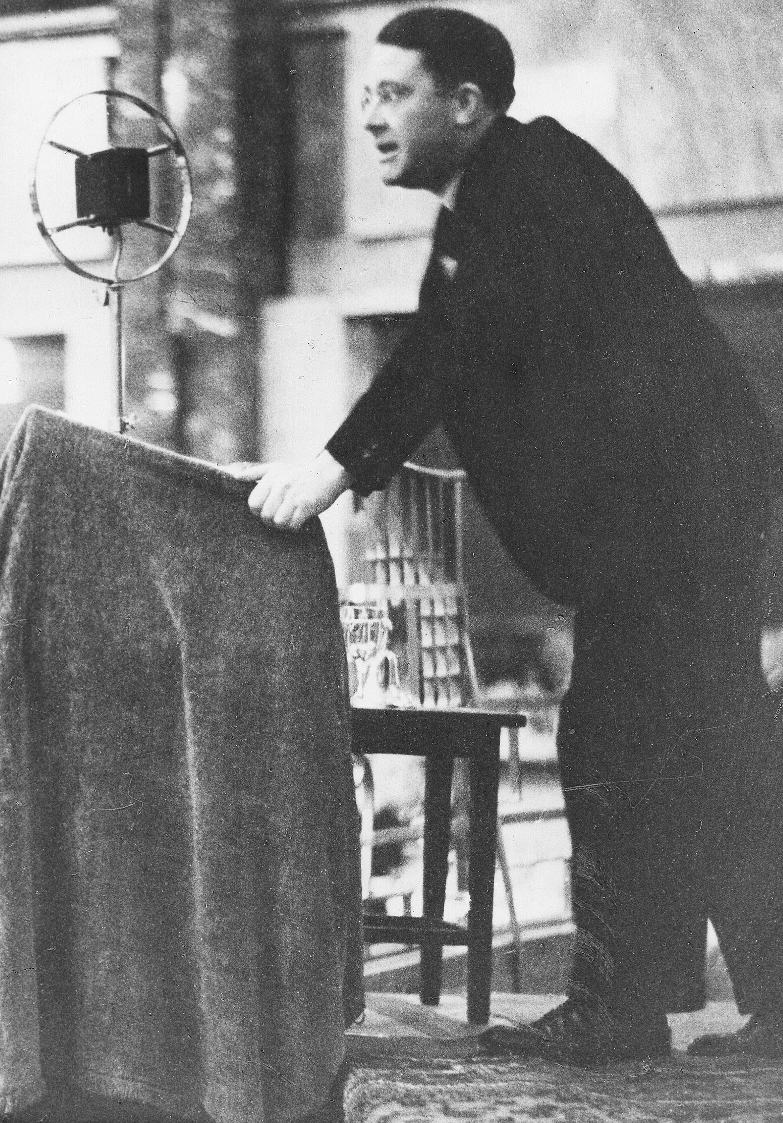 Nazi jurist Carl Schmitt speaking in Germany, 1930