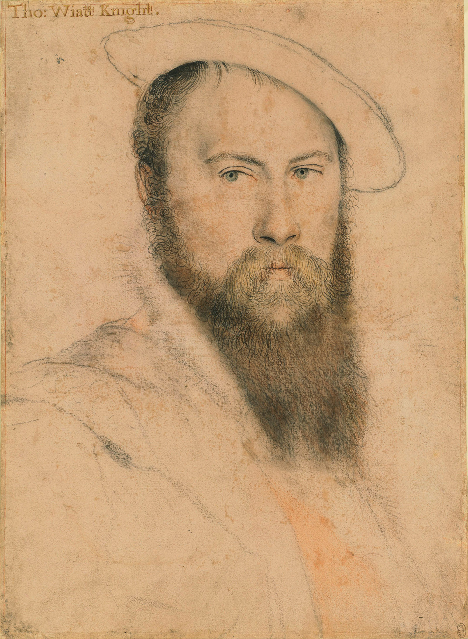 Thomas Wyatt; drawing by Hans Holbein the Younger, circa 1535