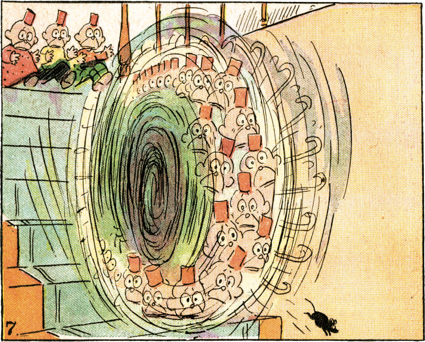 A panel from Happy Hooligan by Frederick Burr Opper