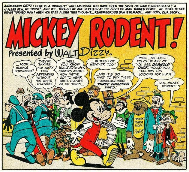 'Mickey Rodent!'; cartoon by Harvey Kurtzman and Bill Elder
