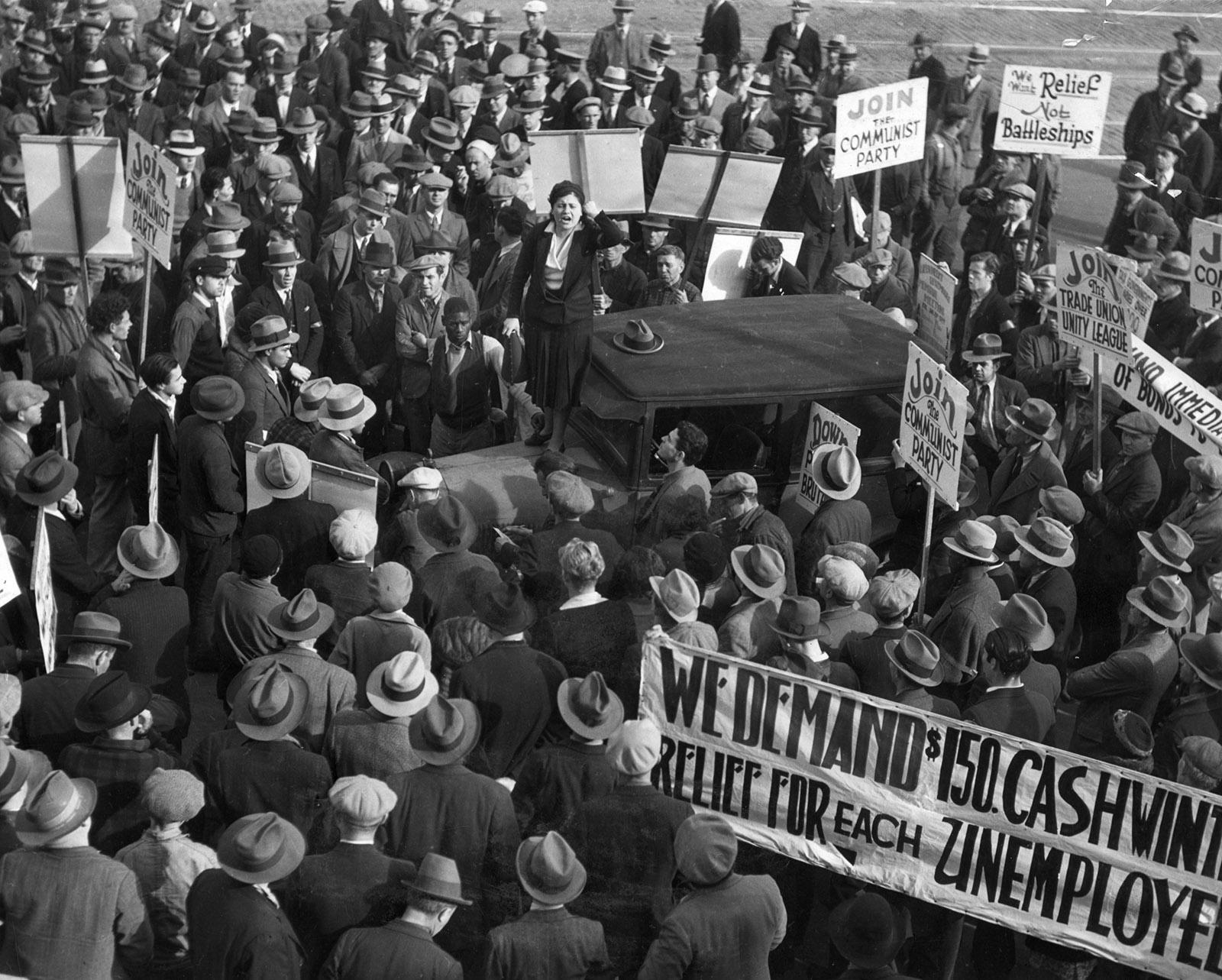 A Communist Party rally, San Francisco, circa 1930