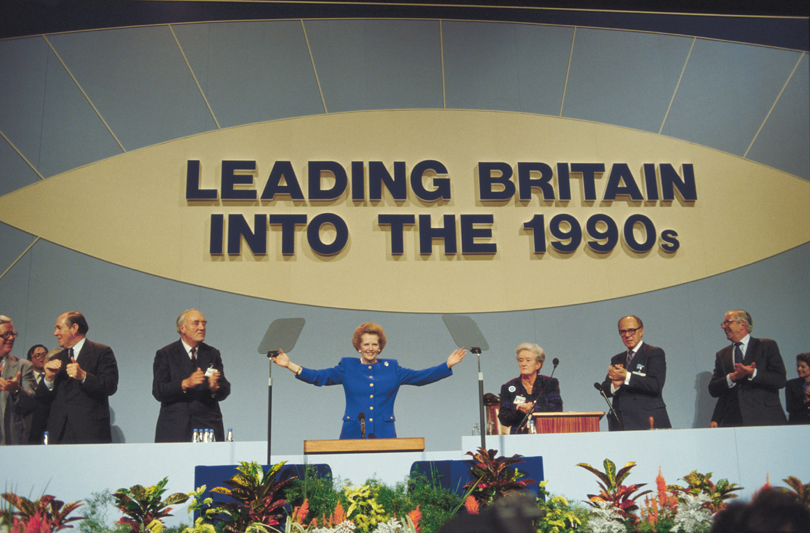 Prime Minister Margaret Thatcher at the 1988 Conservative Party conference