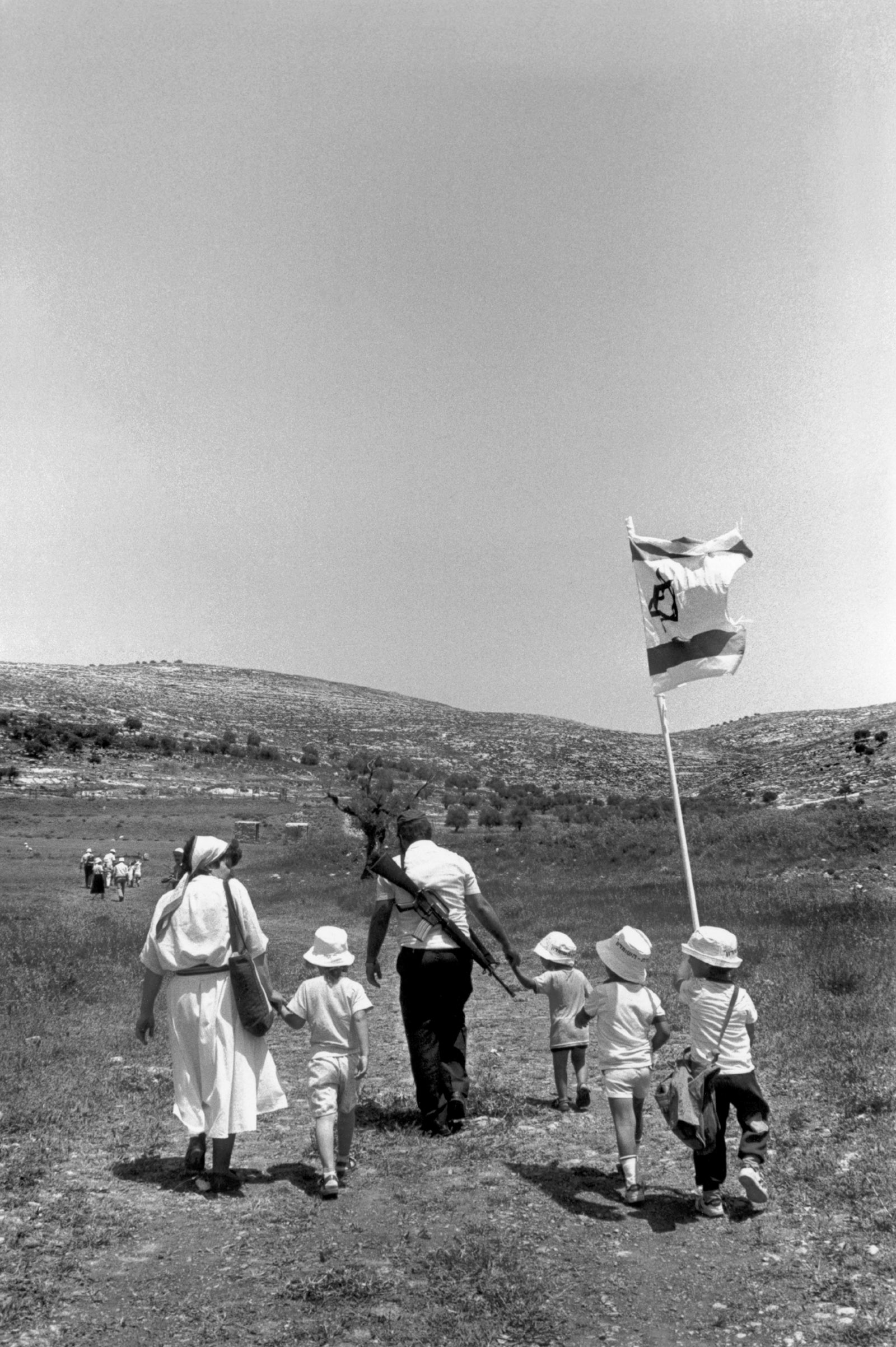 A Jewish family in the occupied West Bank, 1988
