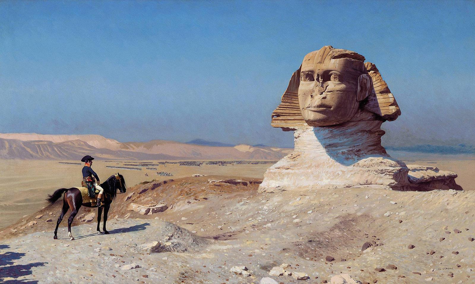 Jean-Léon Gérôme: Bonaparte Before the Sphinx, 1886