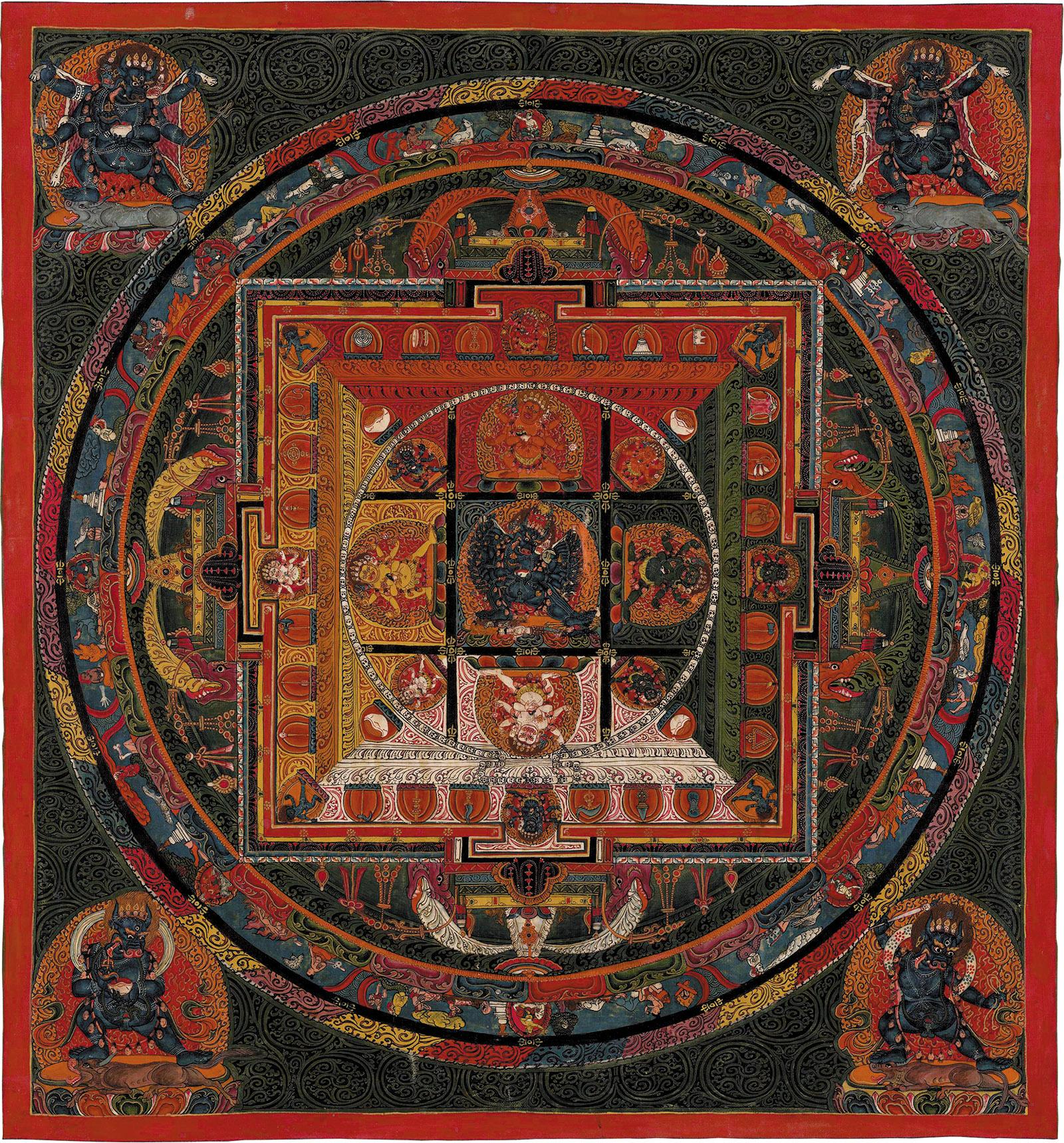 Mandala of Vajrabhairava, Ngor Monastery, Tibet, 1650–1750