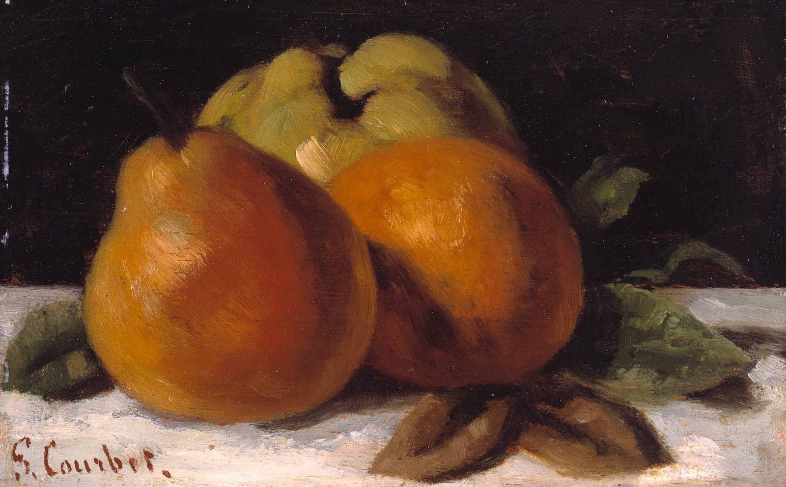 Gustave Courbet: Apple, Pear, and Orange, circa 1871–1872