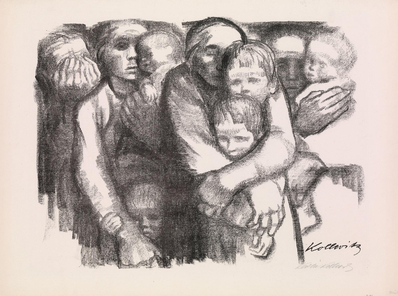 Mothers; illustration by Käthe Kollwitz