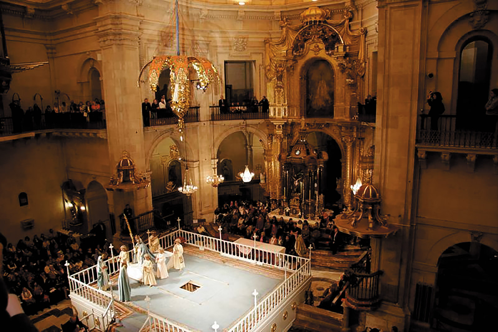 The festival of the Misteri d'Elx in the Basilica de Santa María, Elche, Spain, 2015