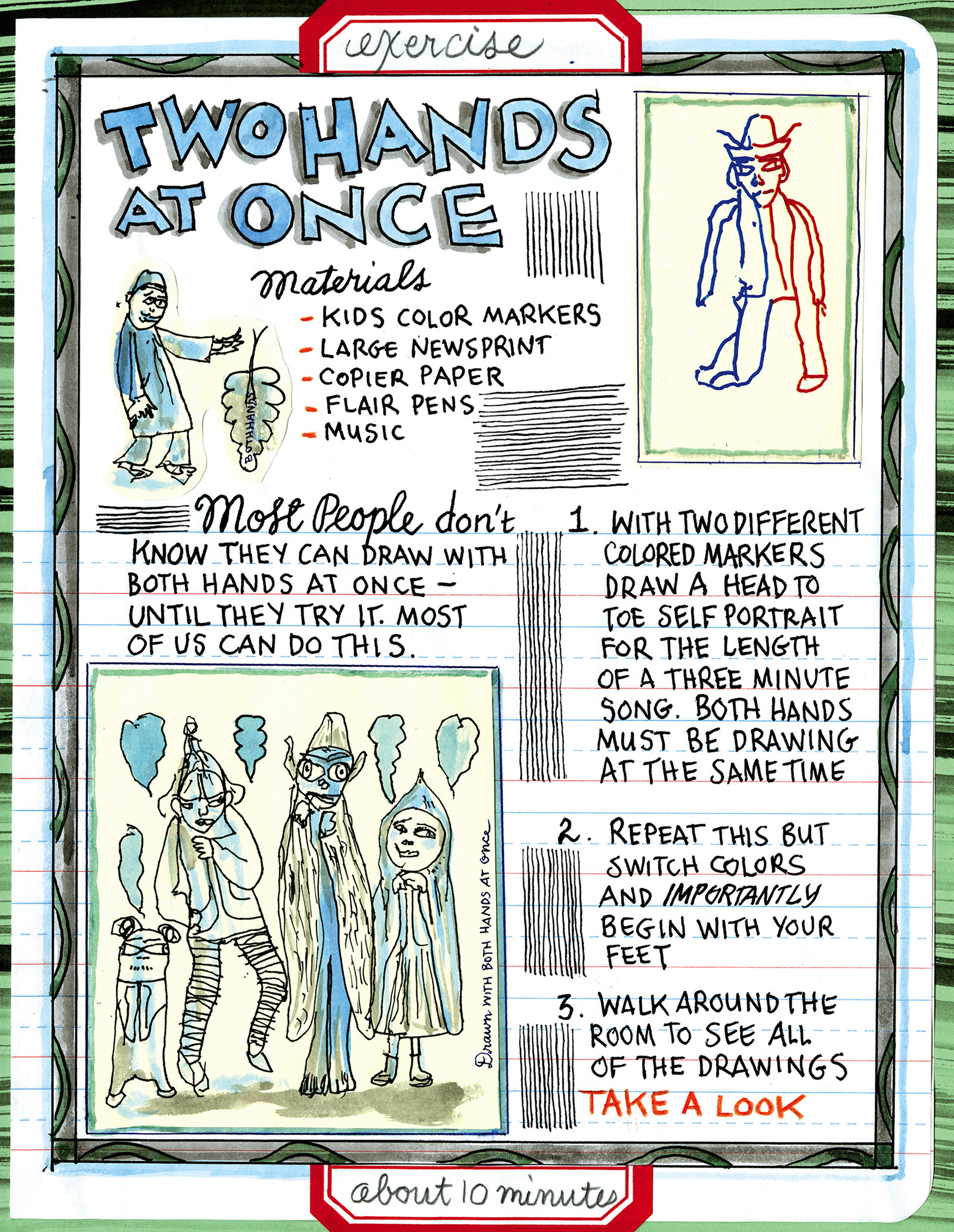 A page from Making Comics by Lynda Barry