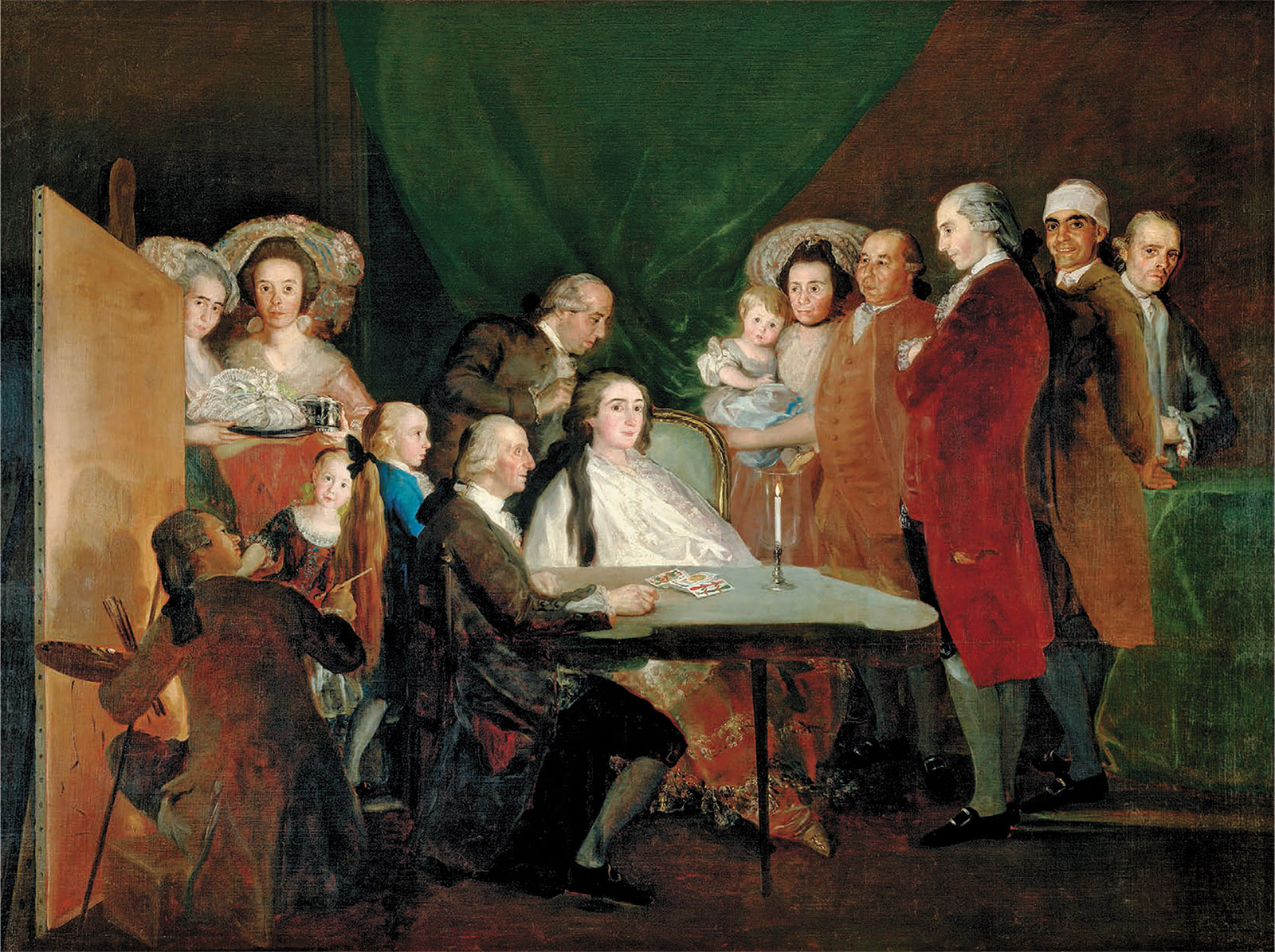 The Family of the Infante don Luis de Borbón; painting by Francisco Goya