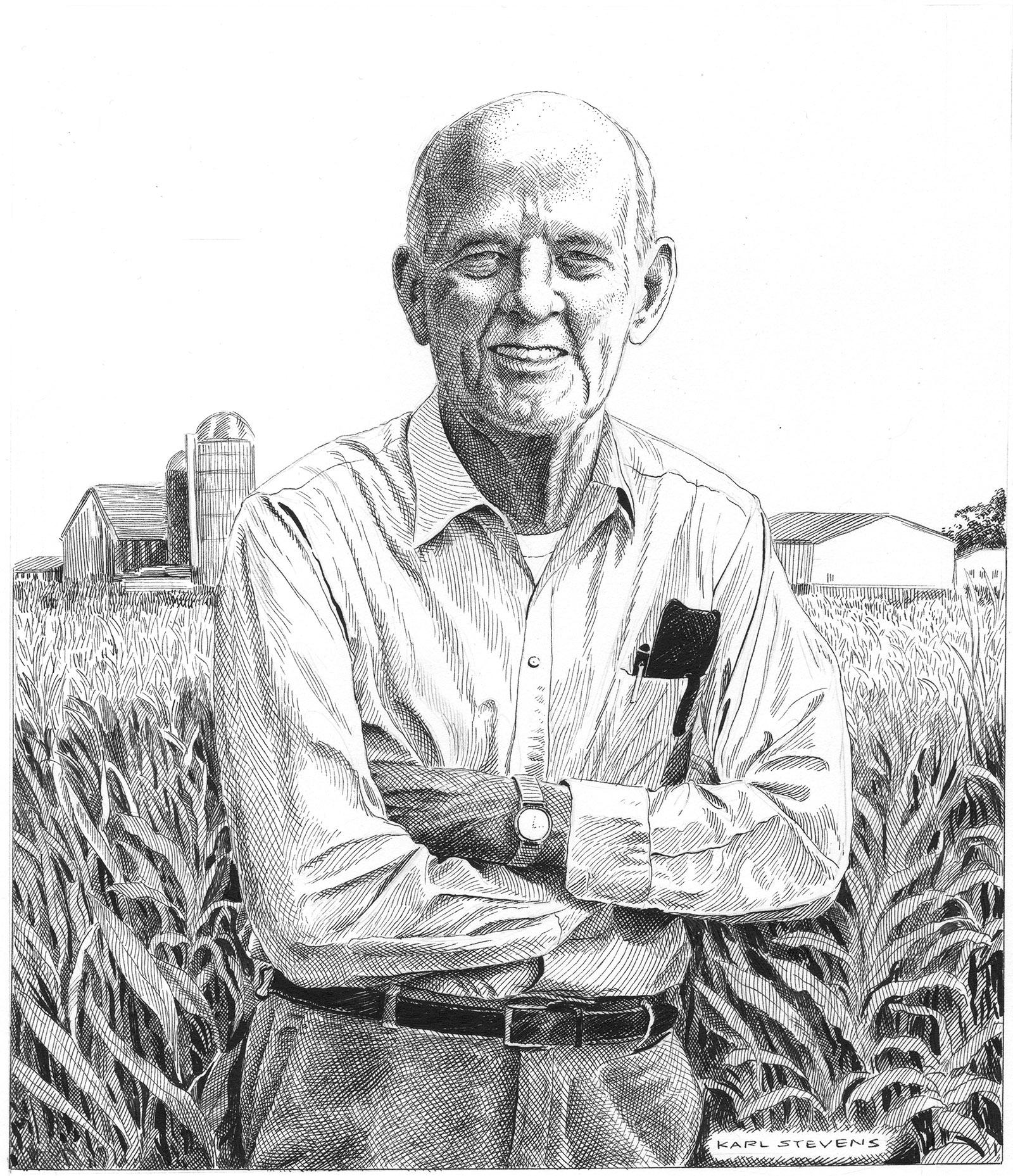 Wendell Berry; illustration by Karl Stevens