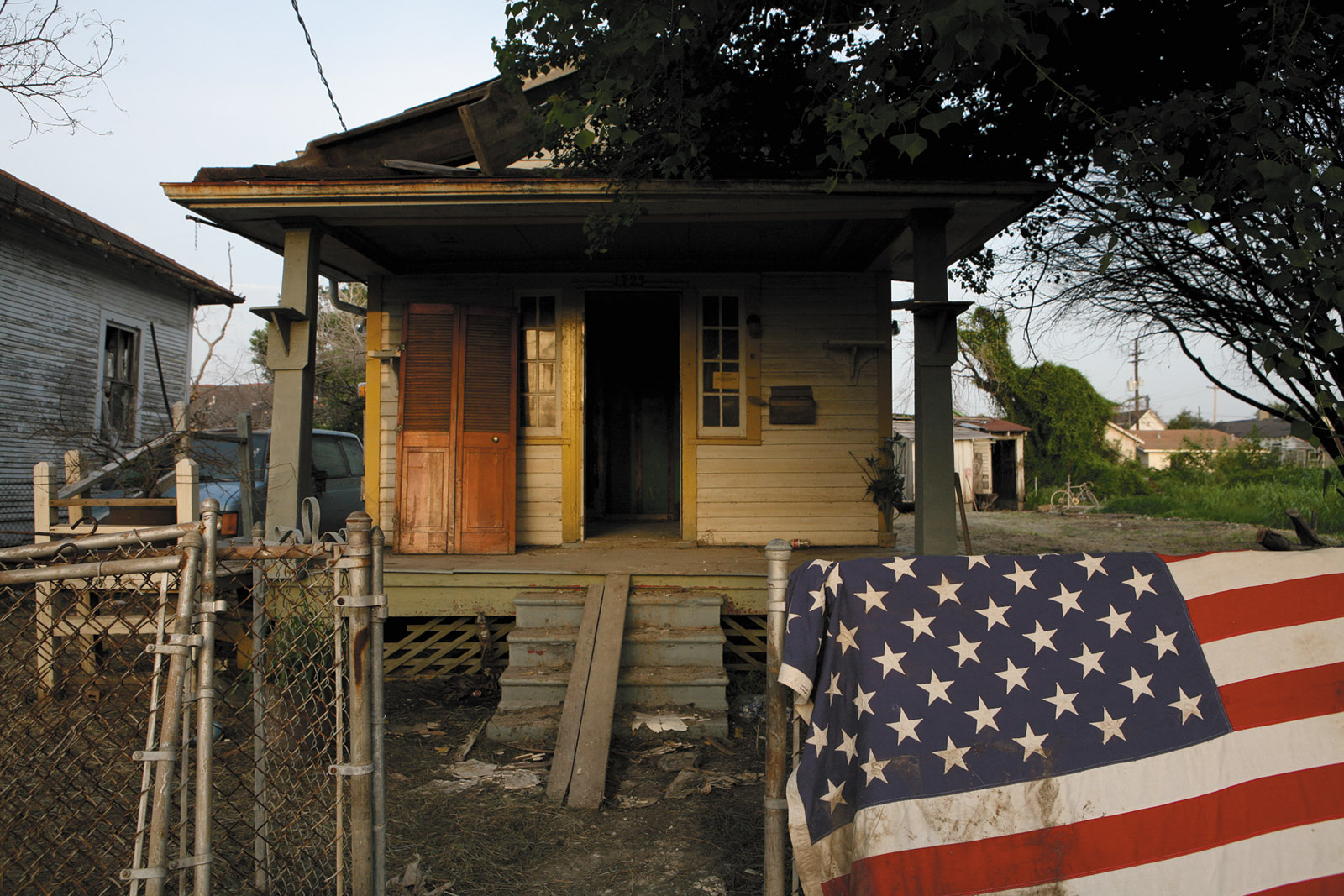 A house damaged by Hurricane Katrina in the Lower Ninth Ward