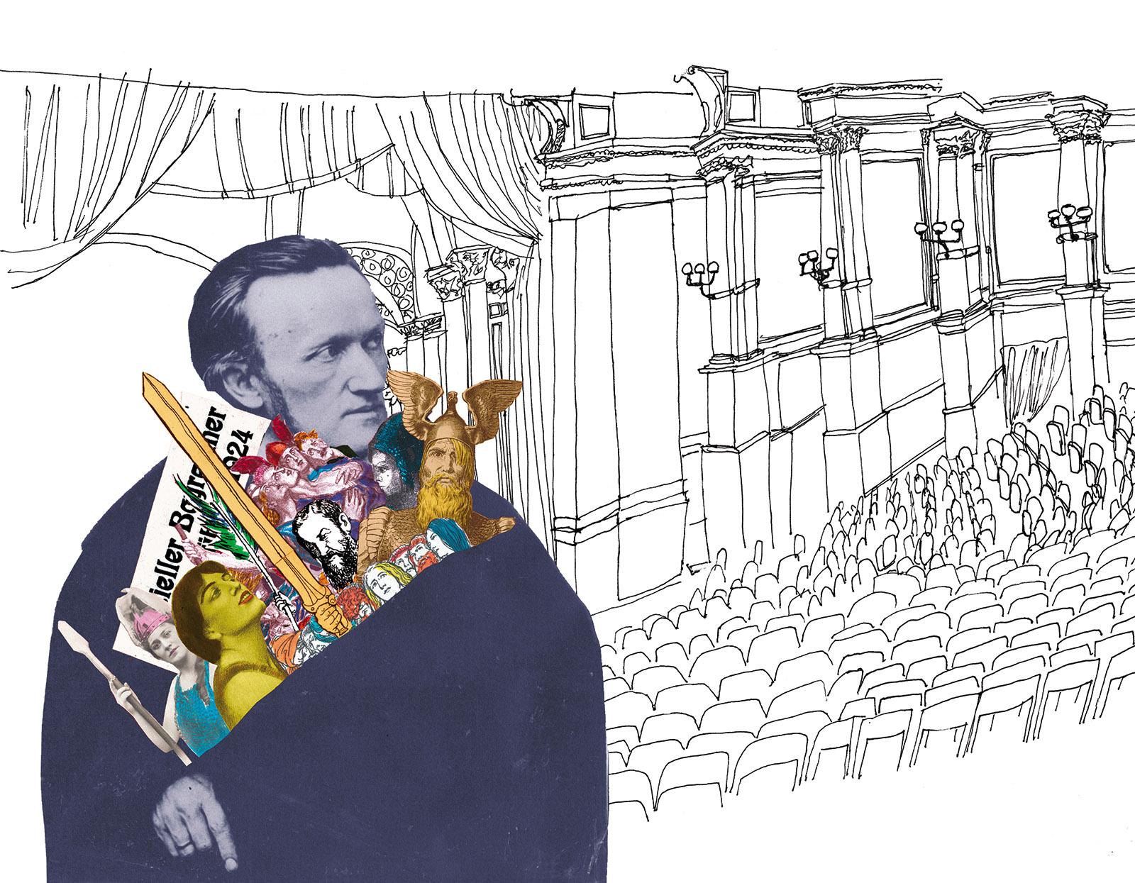 Richard Wagner; illustration by Joanna Neborsky