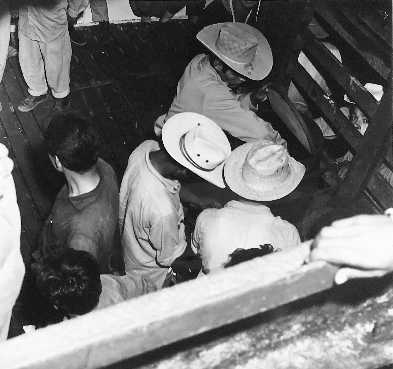 Mexican deportees on the SS Mercurio