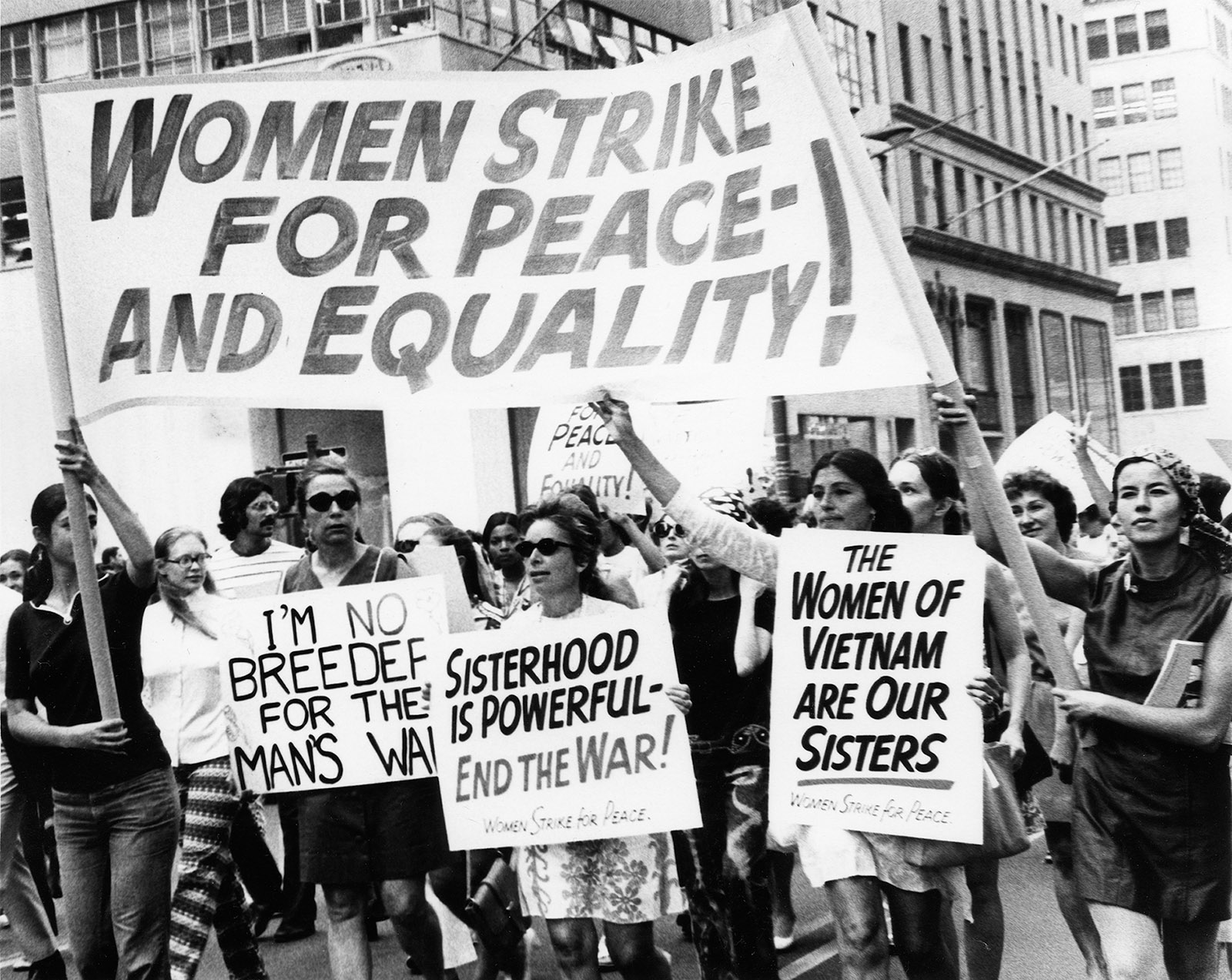 Demonstrators at the Women's Strike for Equality, New York City
