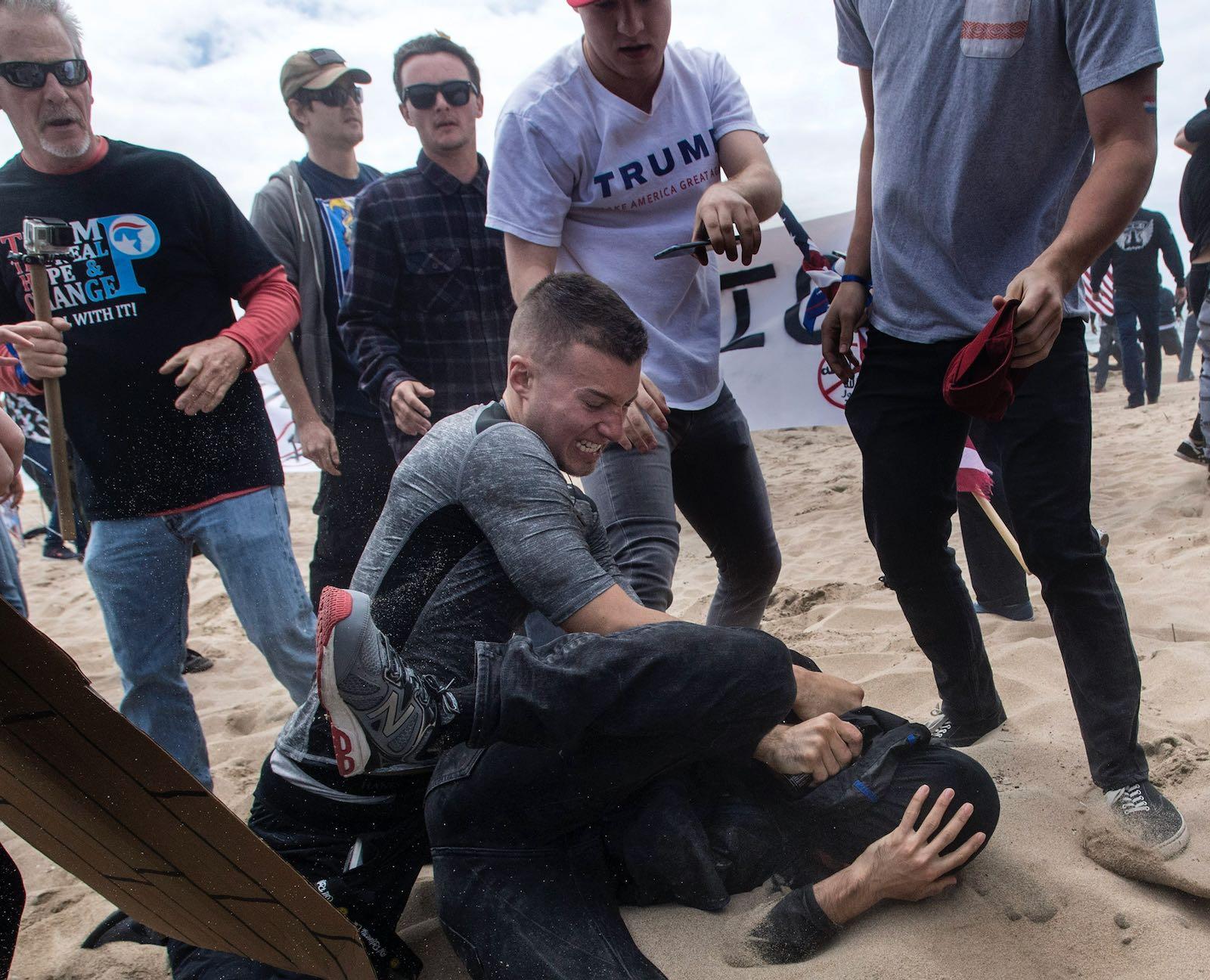 Far-right streetfighting, California