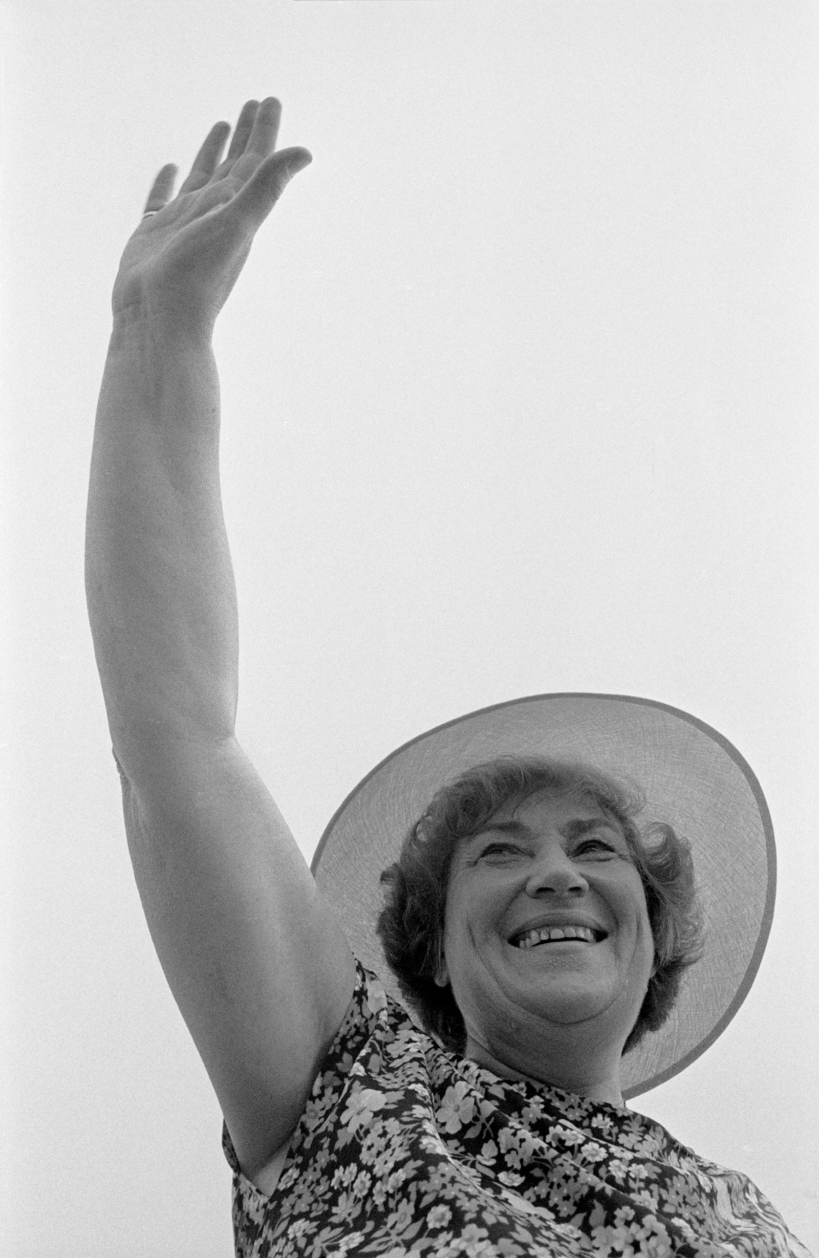 Bella Abzug campaigning for mayor, New York City, 1977