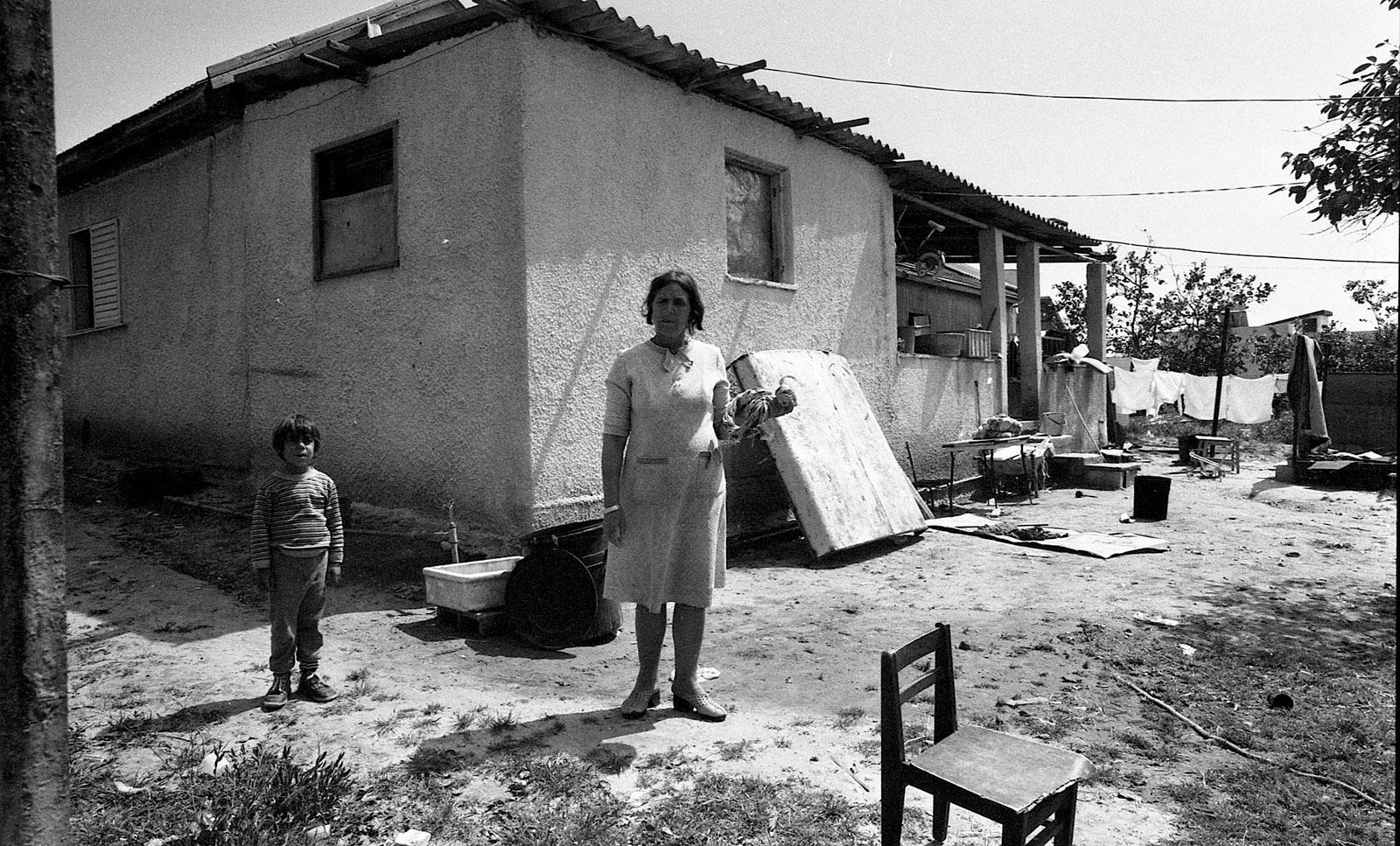 Residents of Ganei Tikvah, near Tel Aviv, Israel, 1982