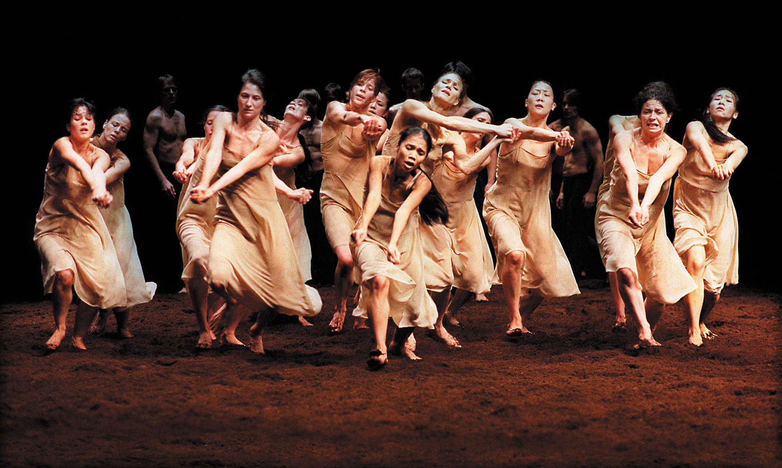 A scene from Pina Bausch's production of Igor Stravinsky's The Rite of Spring